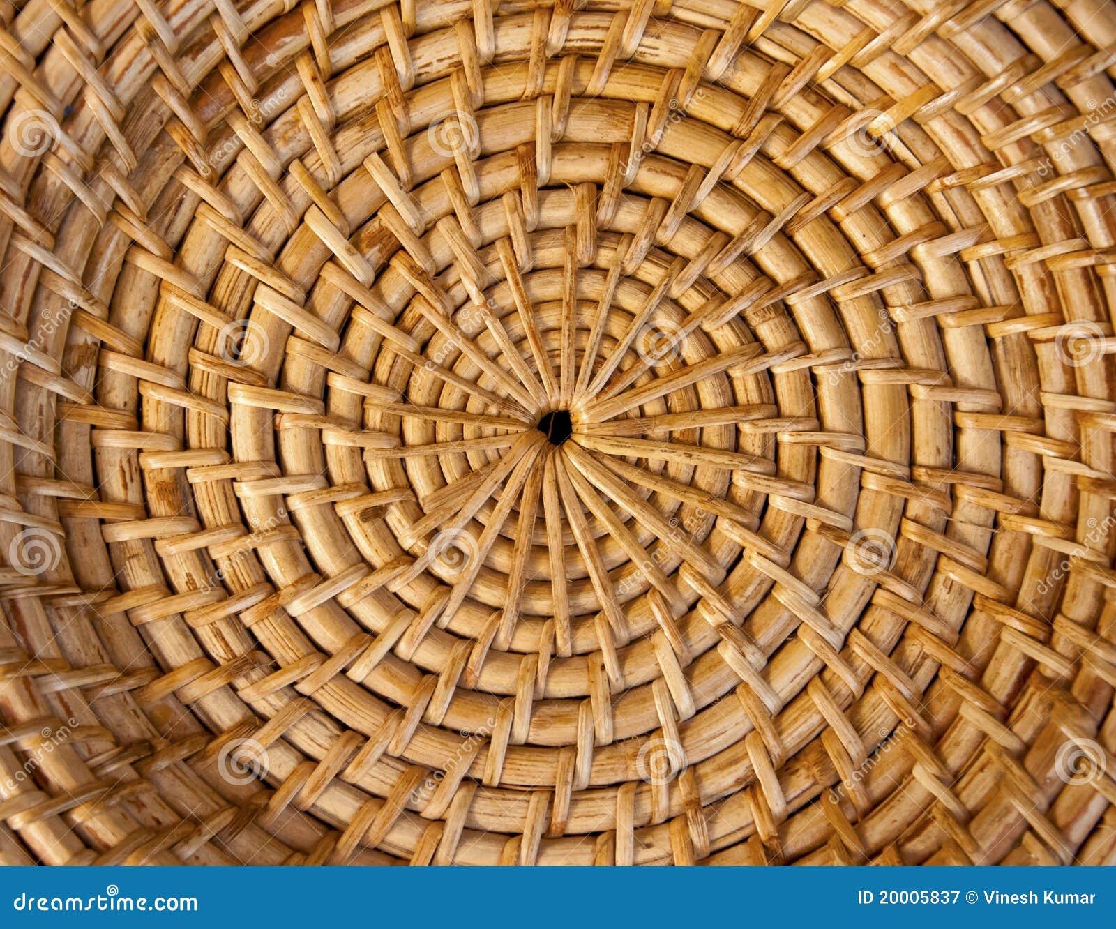 Textura de bambú de la cesta