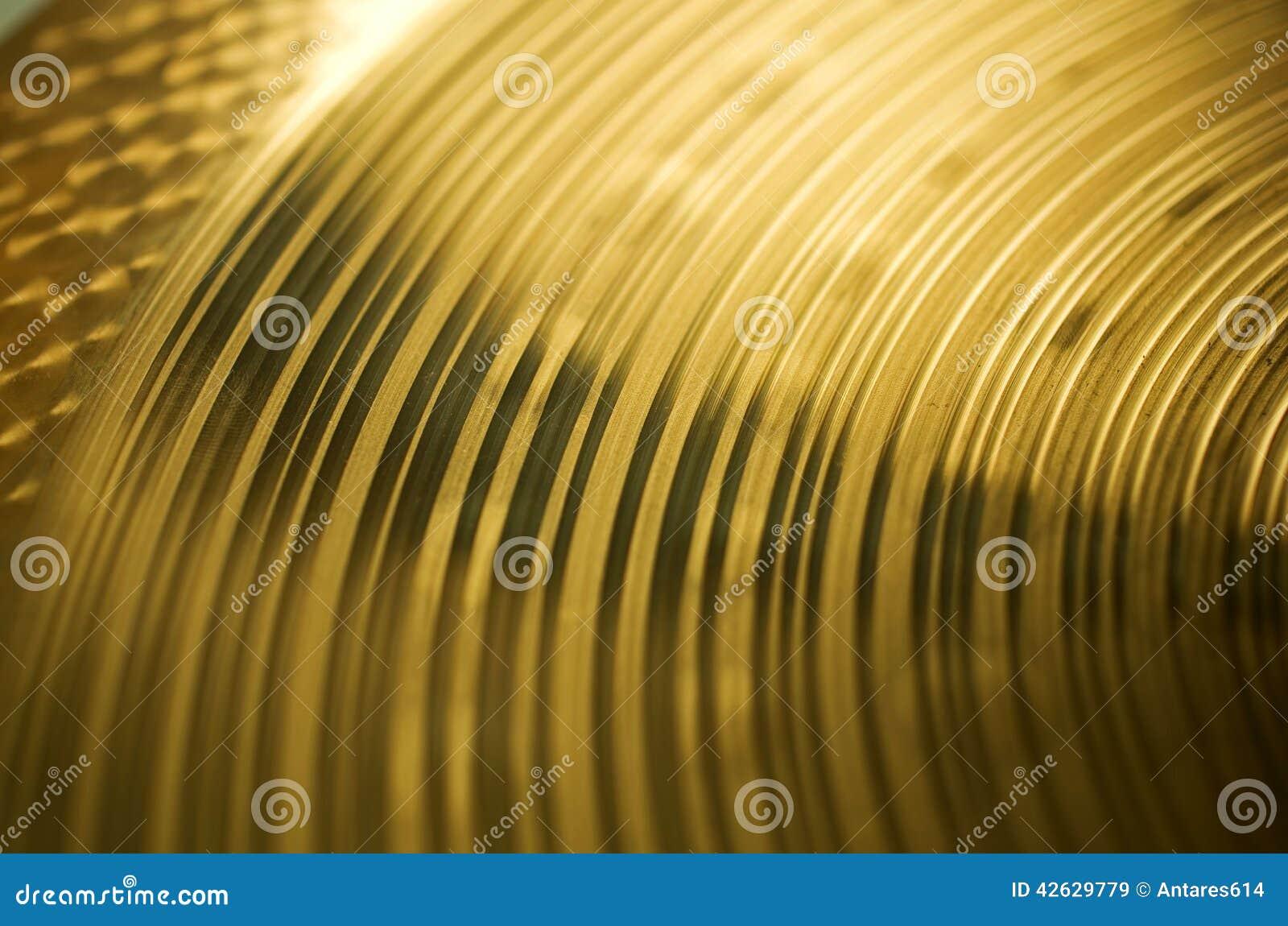 Textura de bronce del platillo