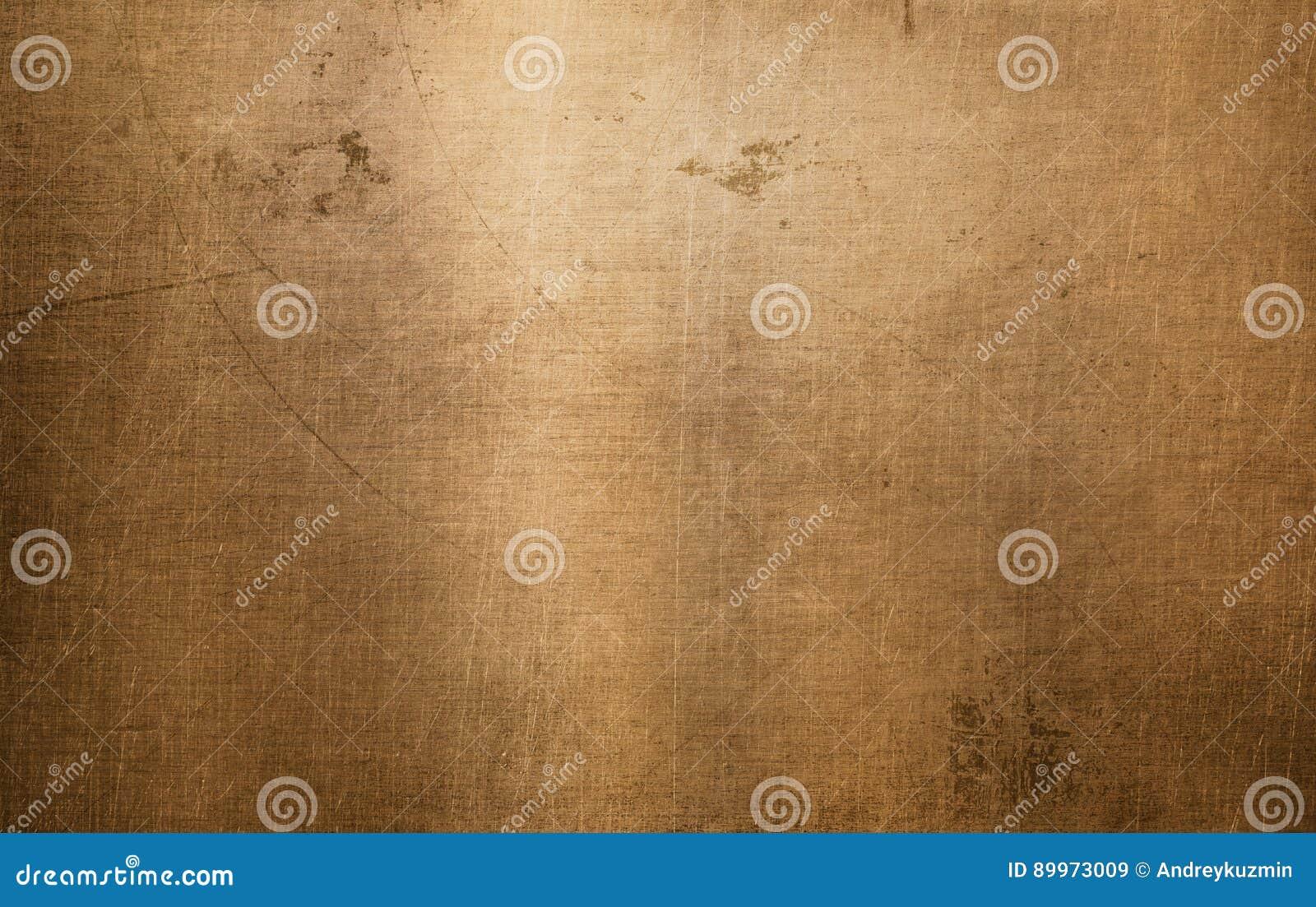 Textura de bronce o de cobre del metal