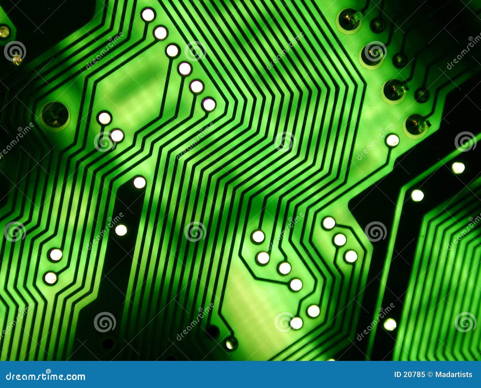 Textura de Circuitboard del ordenador