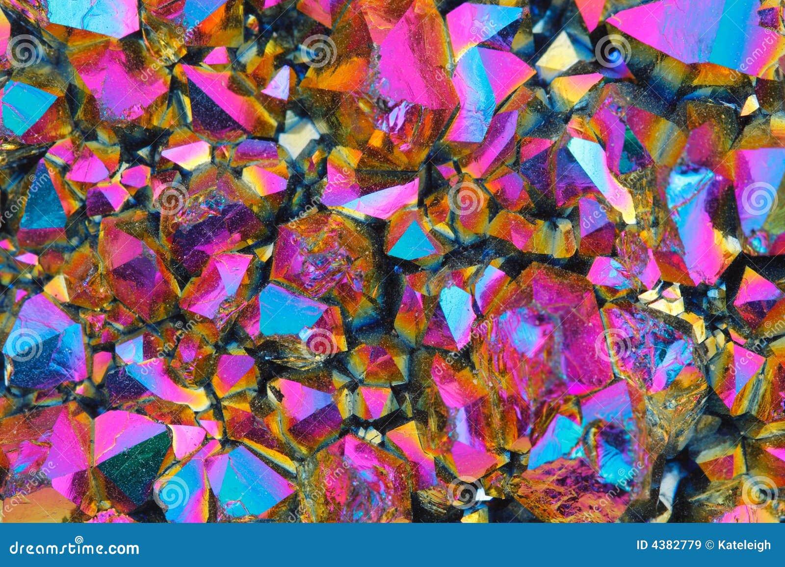 Textura de cristal colorida