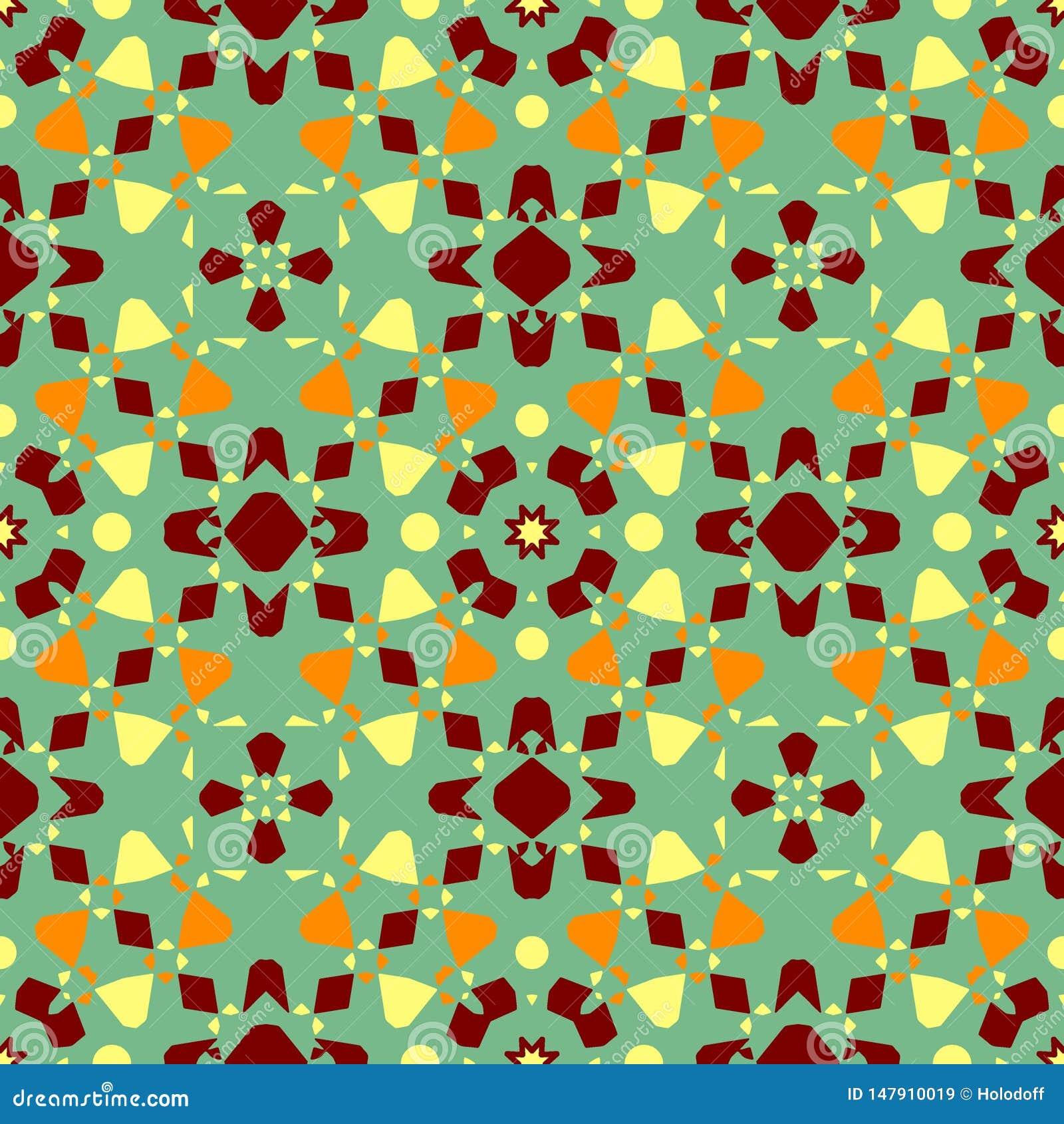 Textura de la baldosa cer?mica Modelo inconsútil magnífico del remiendo de los ornamentos coloridos para las baldosas cerámicas