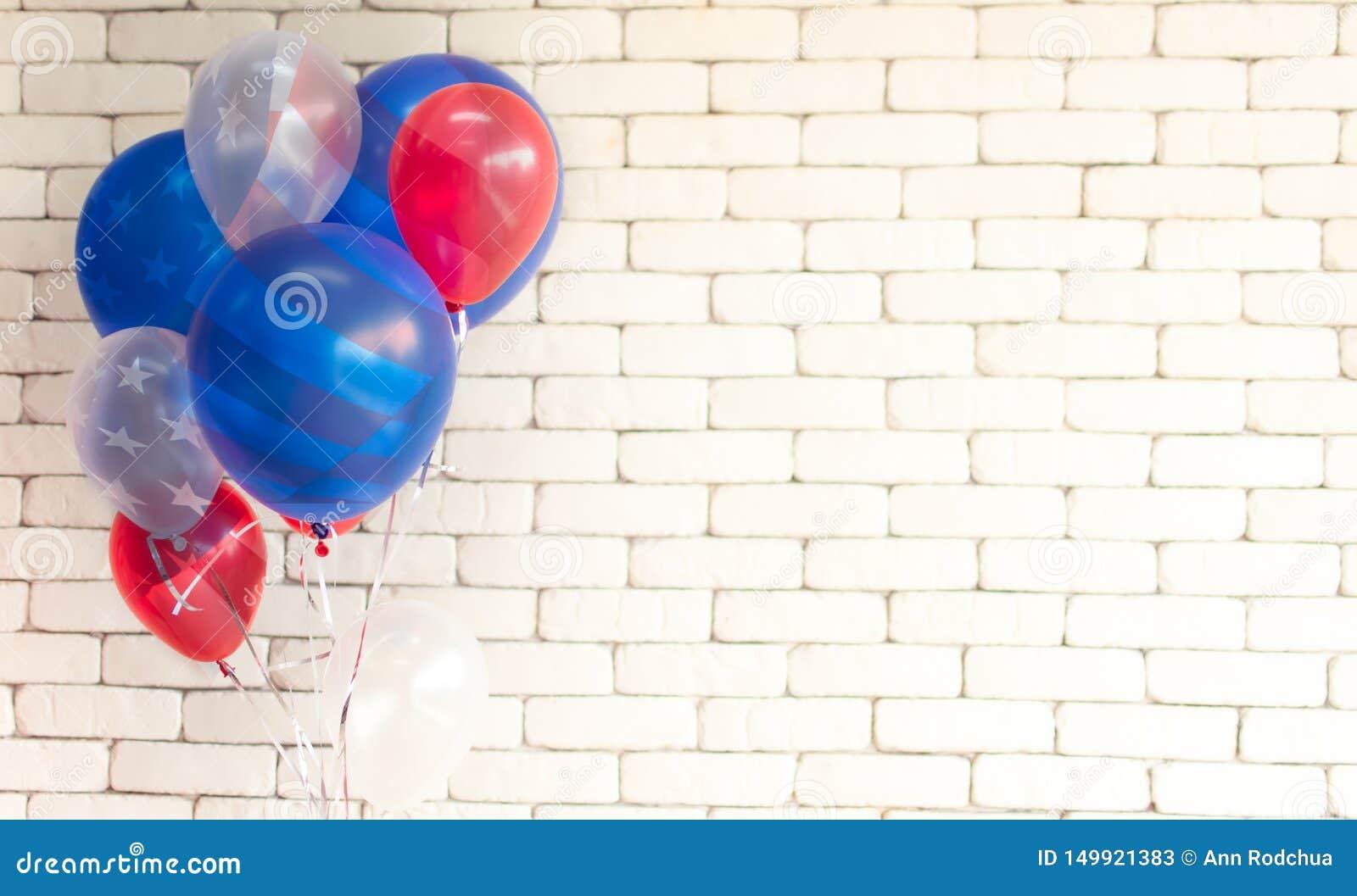 Textura de la bandera americana en los globos