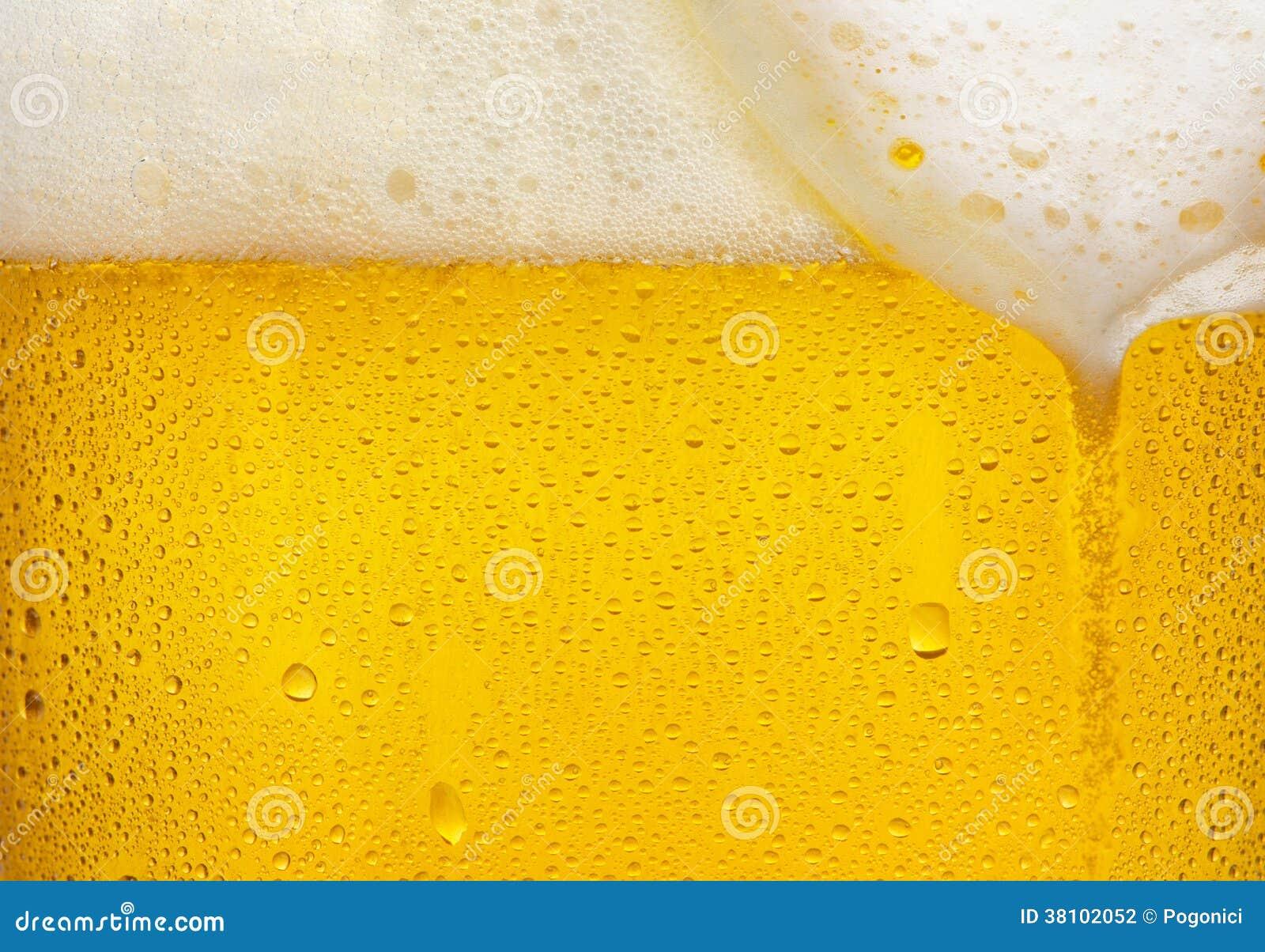 Textura de la cerveza