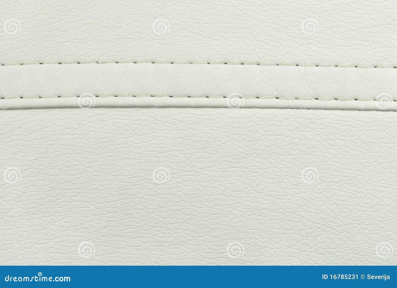 Textura De La Costura Del Cuero Blanco Imagen de archivo - Imagen de ...