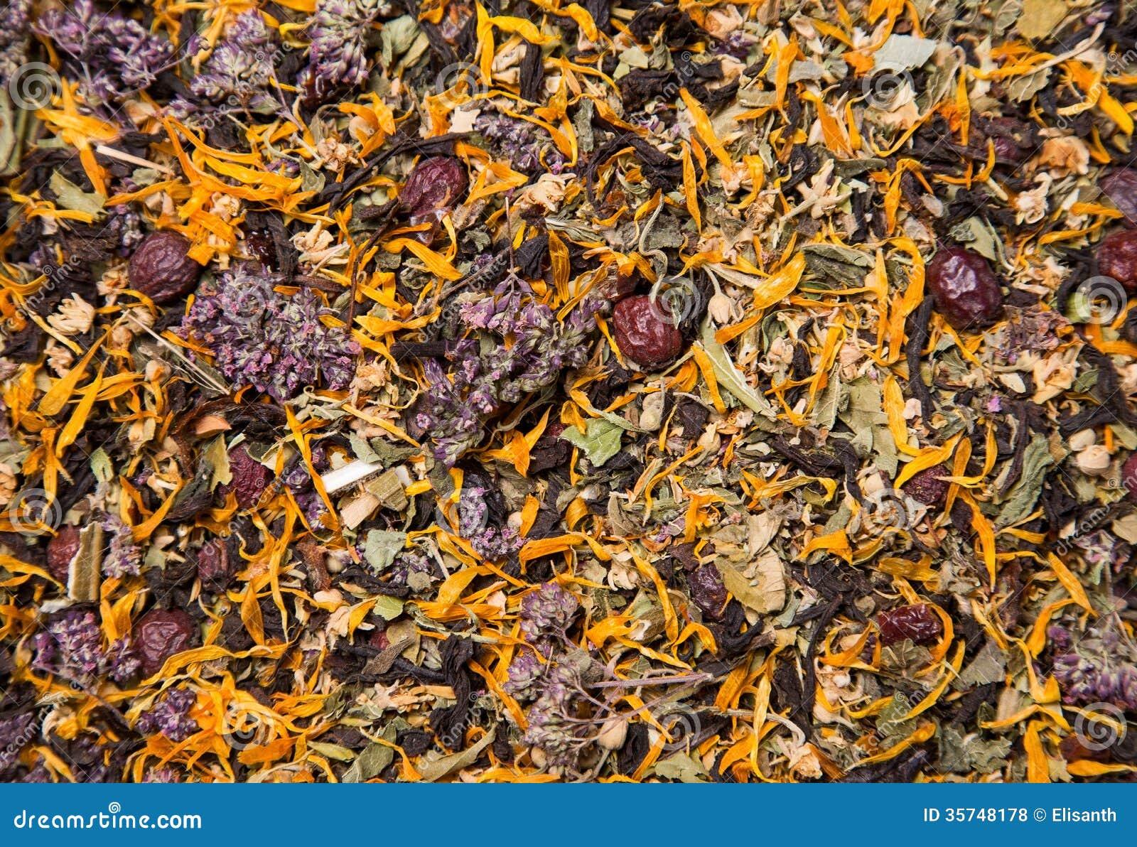 Textura de la infusión de hierbas sana