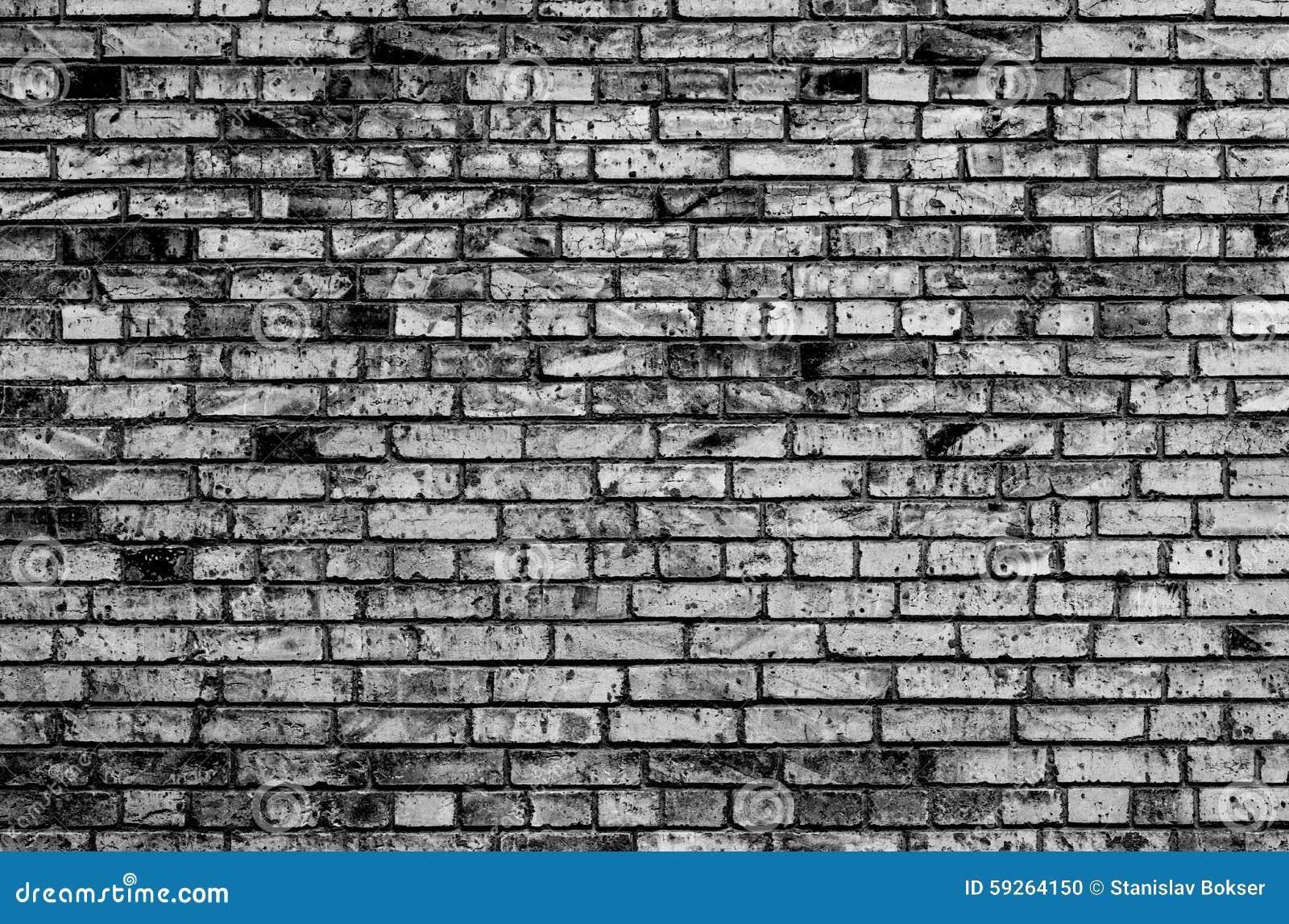 Textura de la pared de ladrillo blanco y negro foto de archivo imagen 59264150 - Pared de ladrillo blanco ...