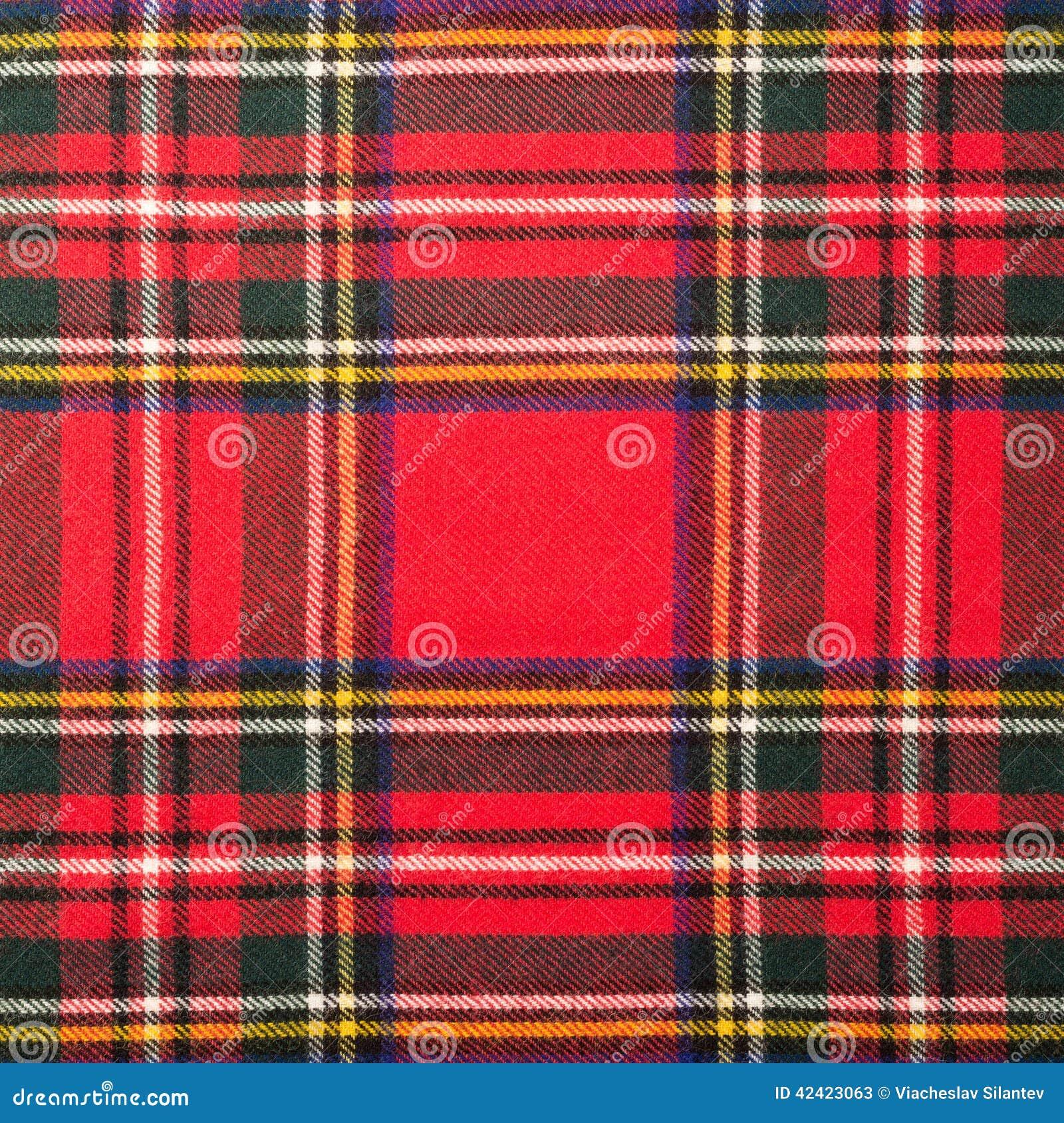 Textura de la tela escocesa de tartán