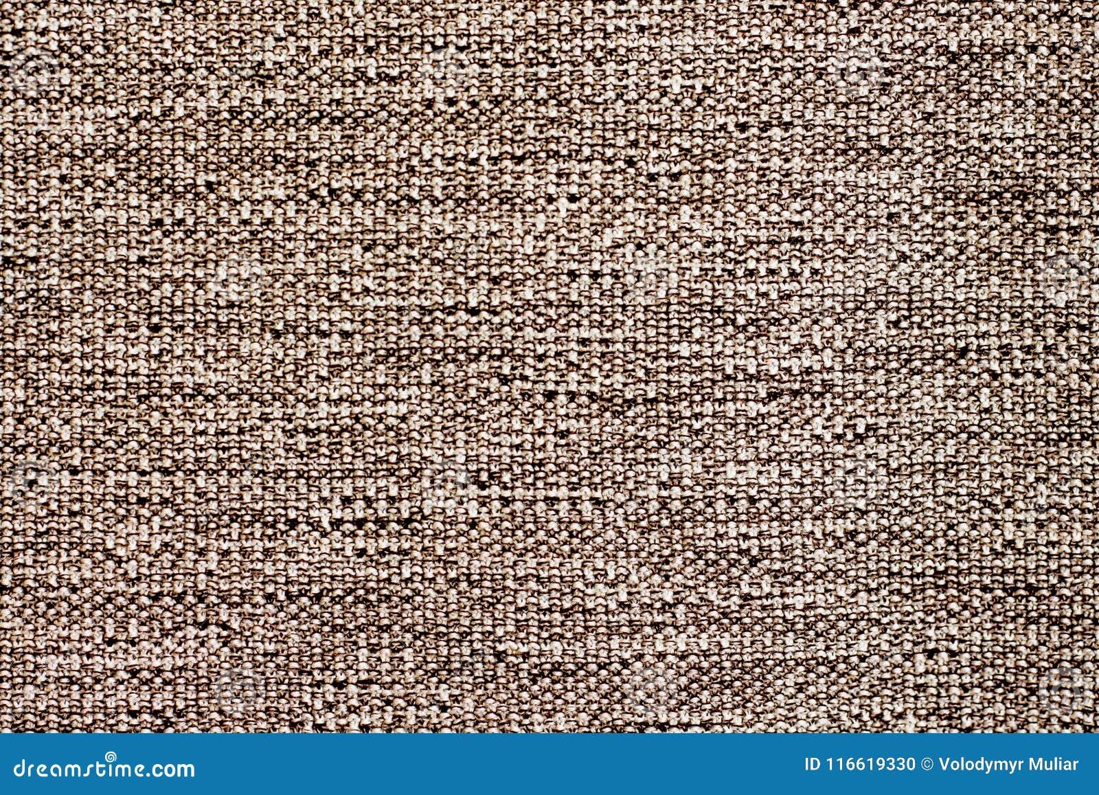 Textura De La Tela Natural Gruesa Del Color Marron Para El Design - El-color-marron
