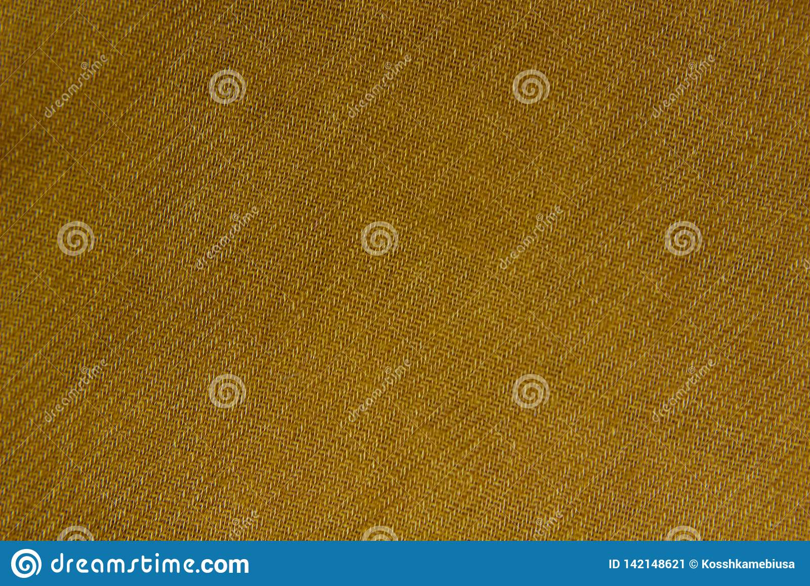 Textura de lino amarilla de la tela