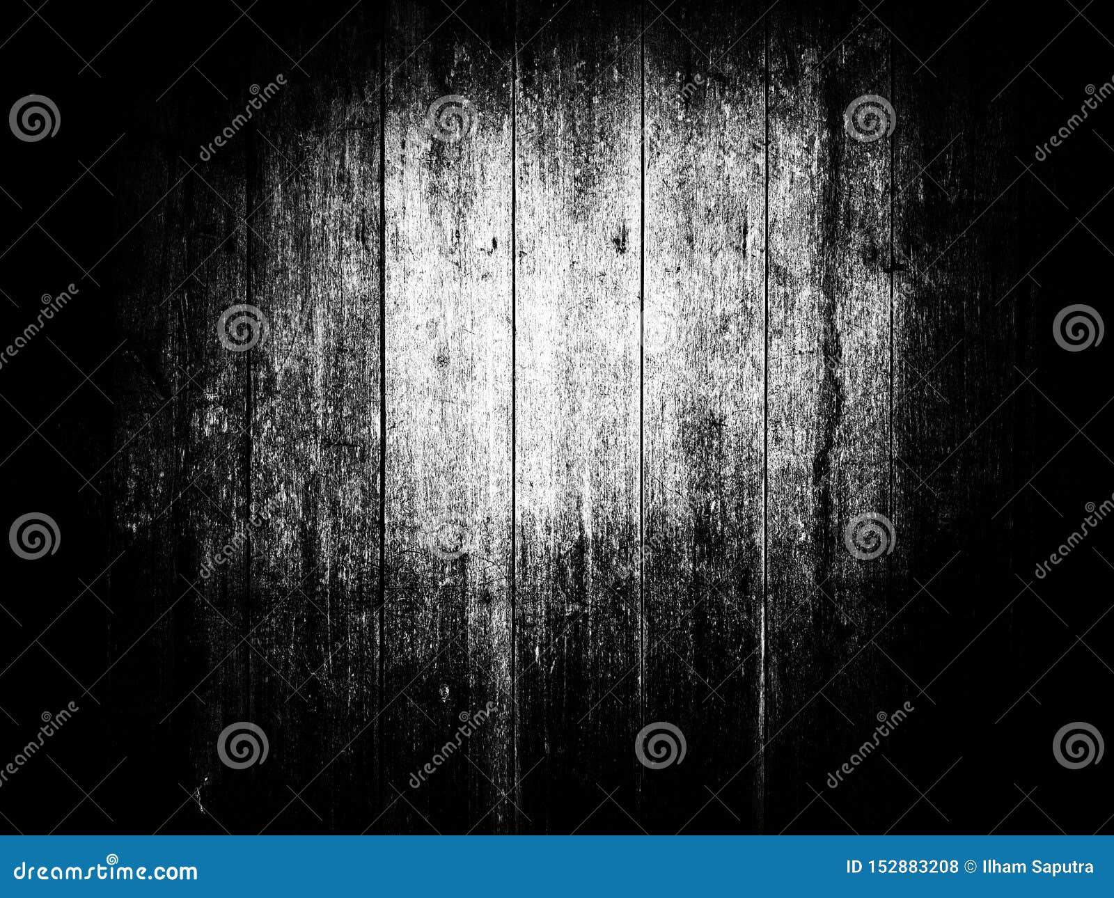 Textura de madeira do teste padrão em preto e branco