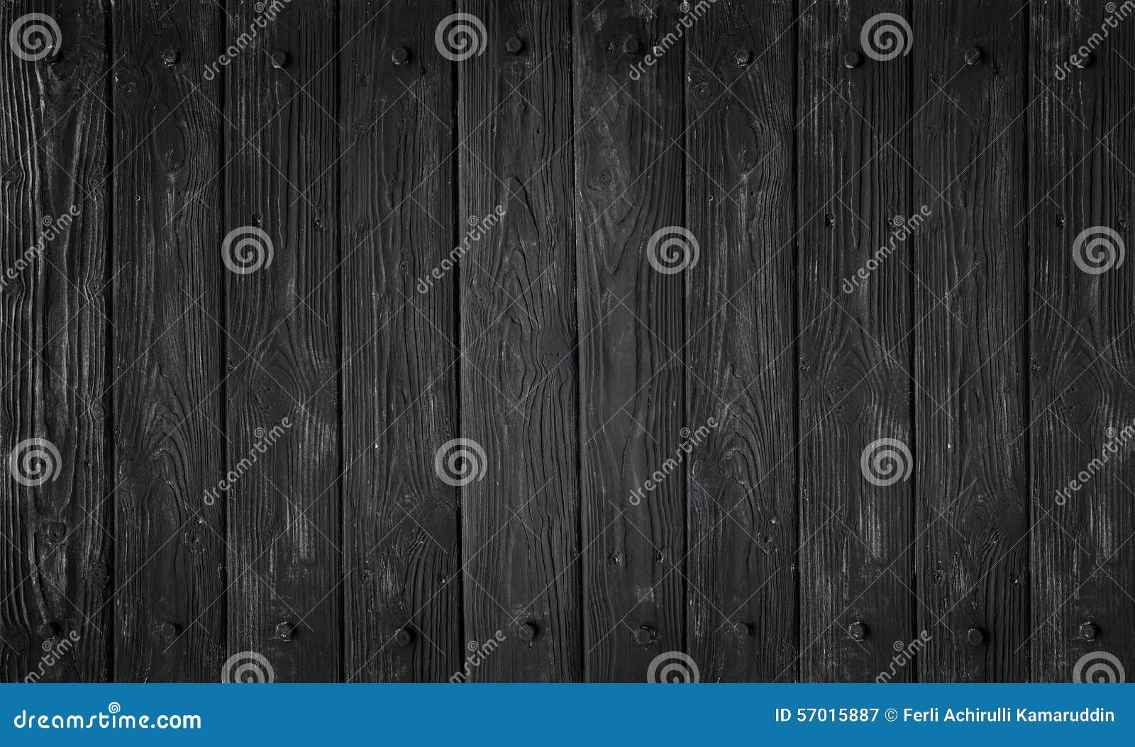 Textura de madeira preta painéis velhos do fundo