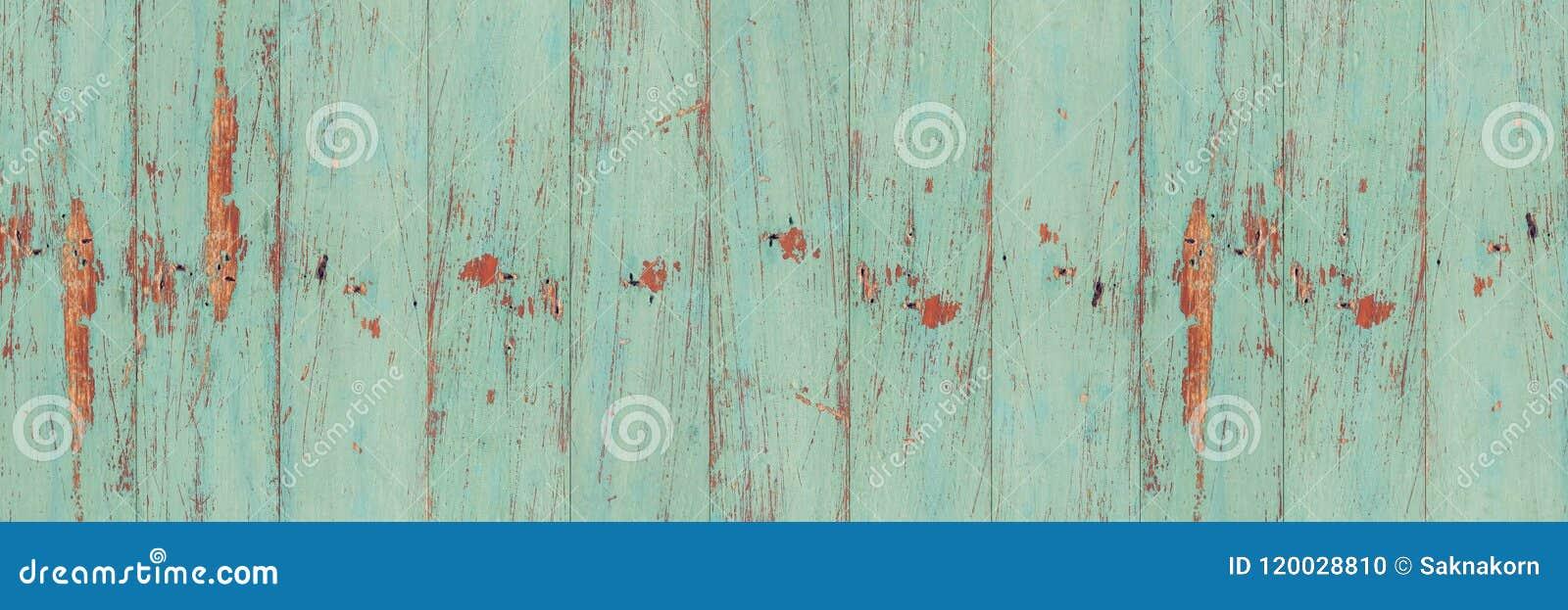 Textura de madeira verde velha da parede da prancha
