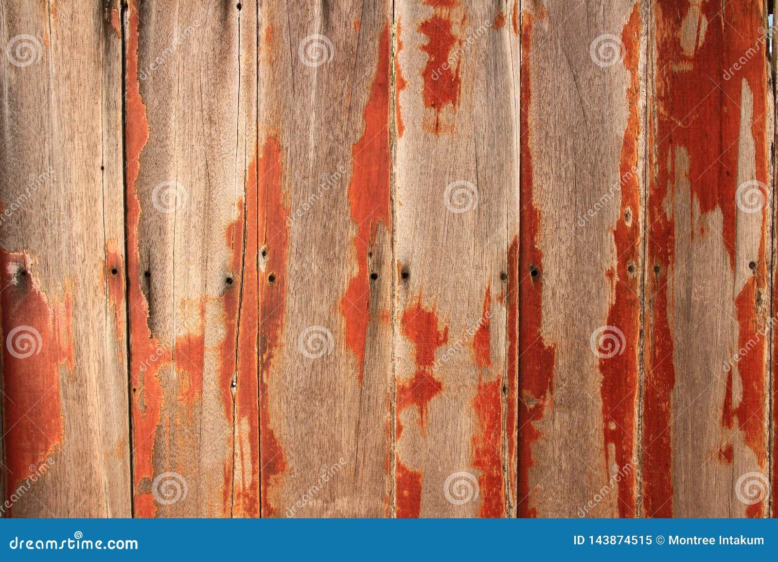 Textura de madera Viejo fondo de madera de la pared del tablón con el agujero de clavos