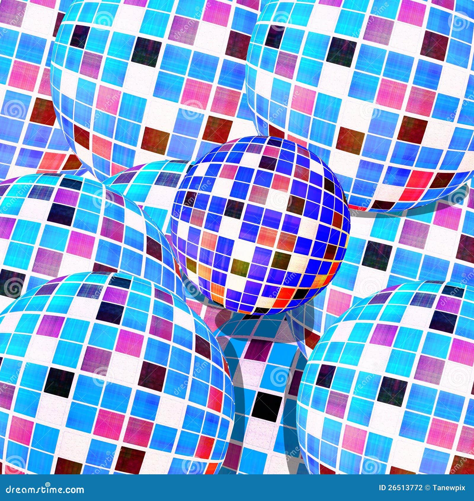 Textura de mosaico abstrata das esferas