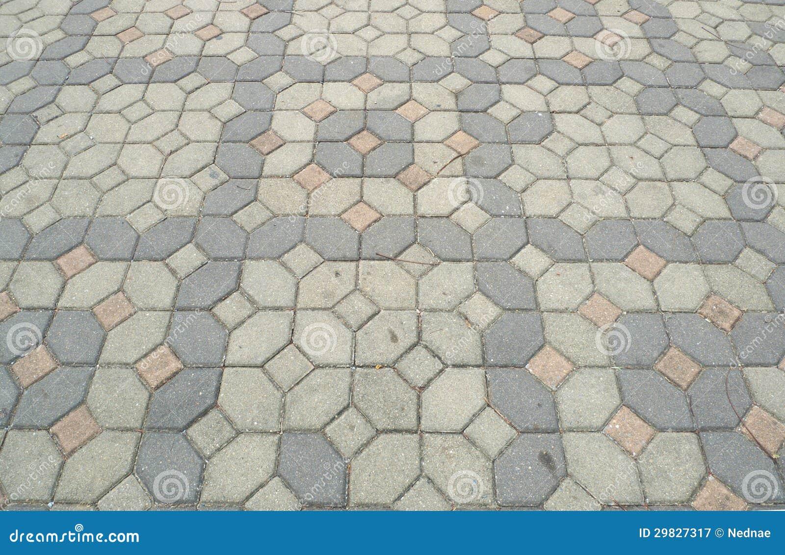 Textura de pavimentação de pedra