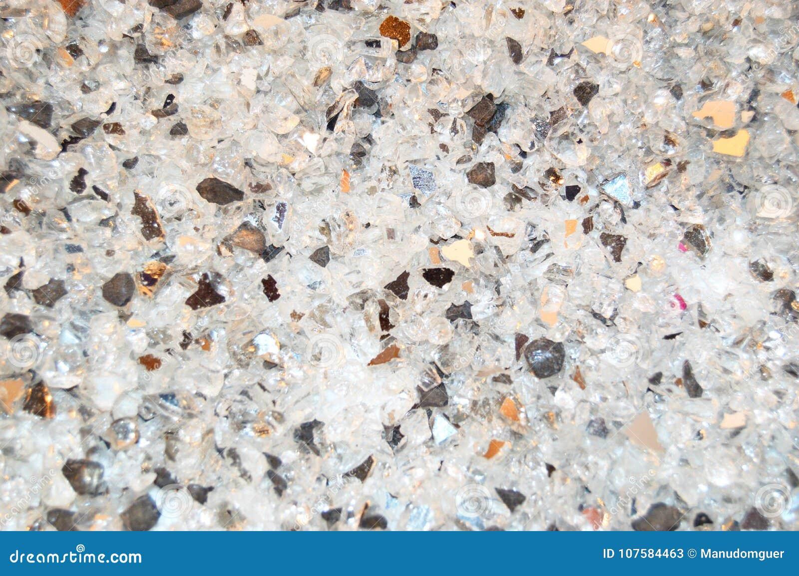 Textura de pedazos de cristal quebrados, fondo blanco y negro del brillo del pago Los días de fiesta, la Navidad, tarjeta del día