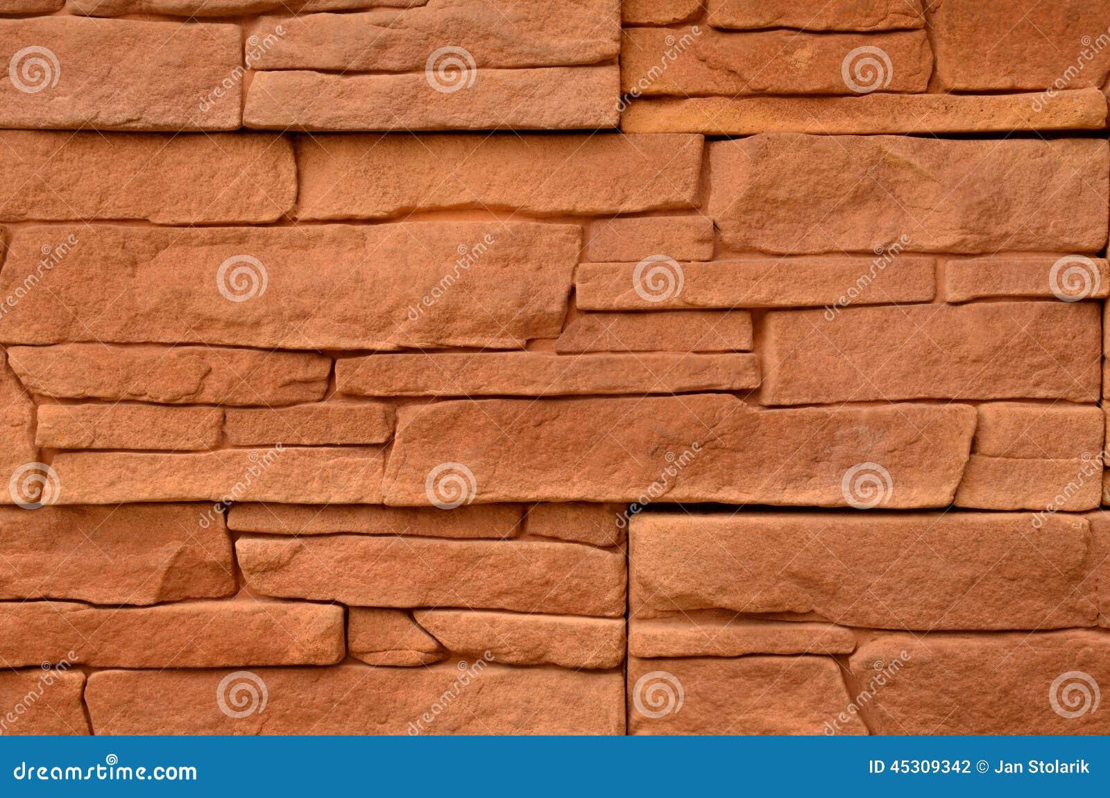 Textura De Pedra Vermelha Do Revestimento Foto de Stock  ~ Revestimento Quartzo Pedra