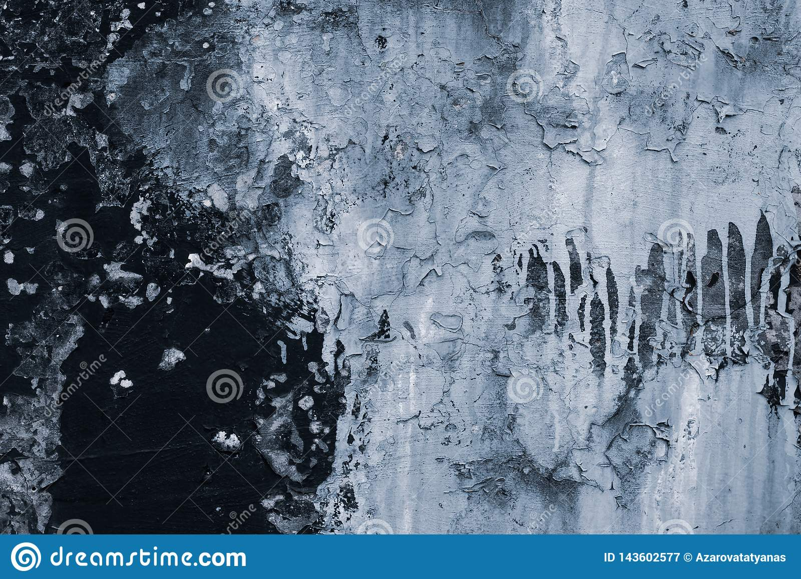 Textura de pelar la pintura en la pared Pared negra del grunge con la pintura gris Agrietado de fondo de la pared abstraiga el fo