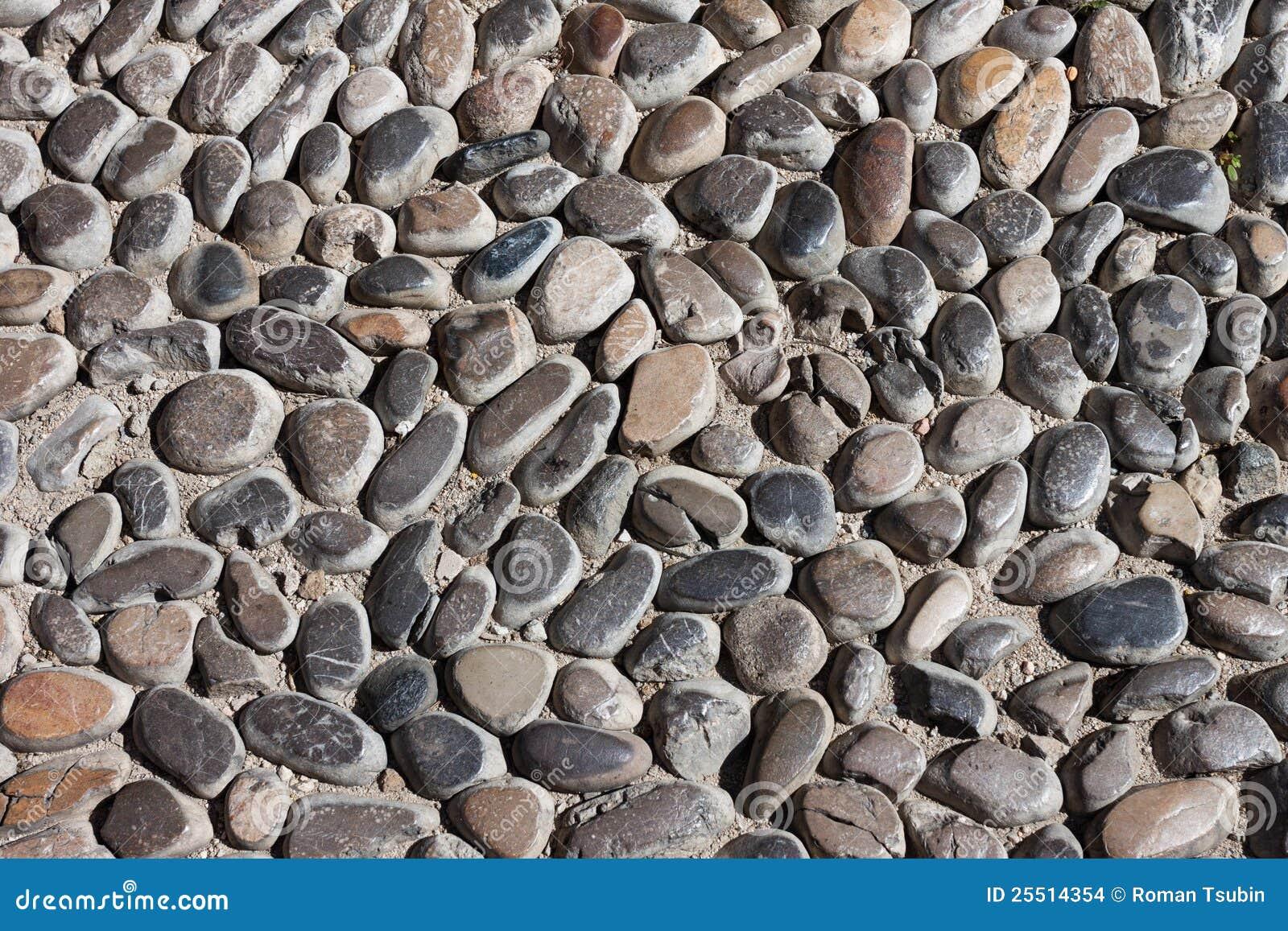 Textura de piedra del camino de los guijarros foto de for Camino de piedra jardin