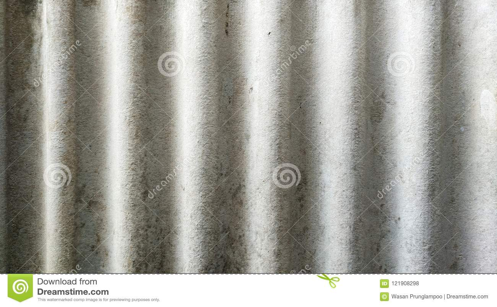 Textura de telhas onduladas do cimento