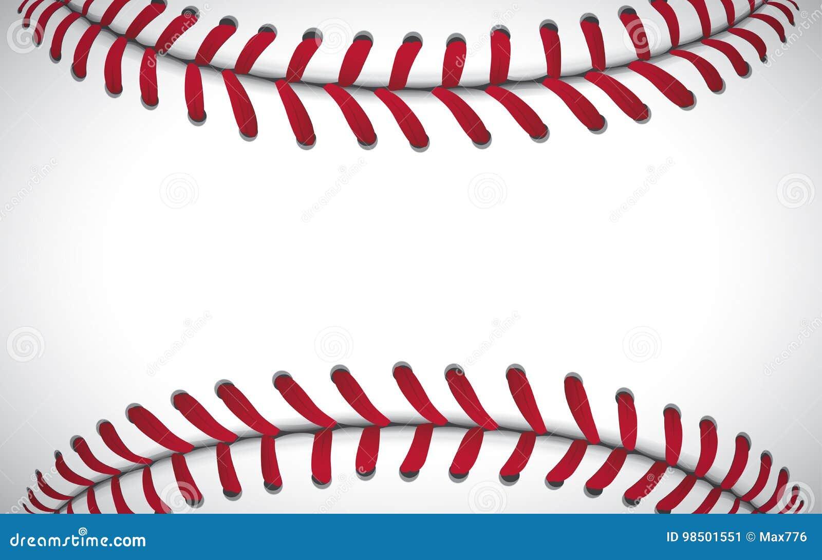 Textura de um basebol, fundo do esporte, ilustração do vetor