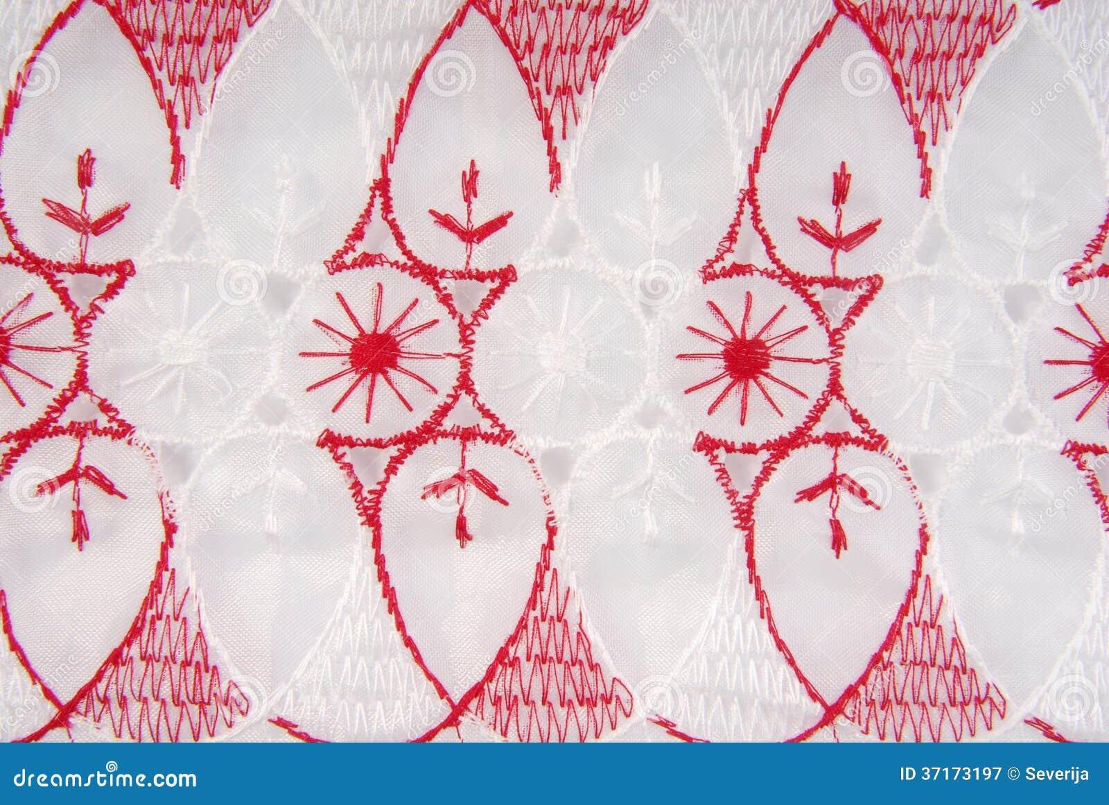 Textura Del Bordado De La Tela Imagen de archivo - Imagen de primer ...