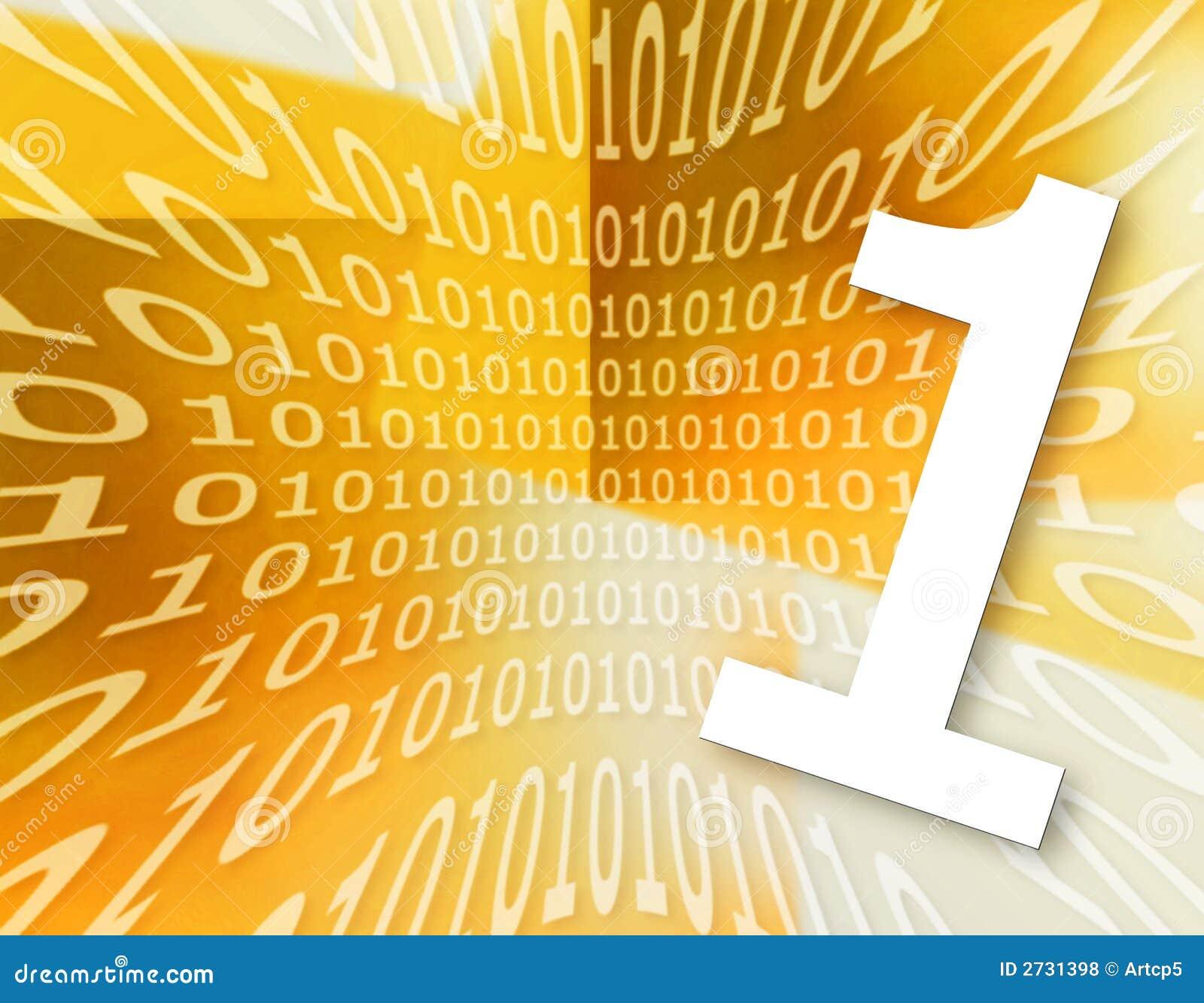 Textura del código binario