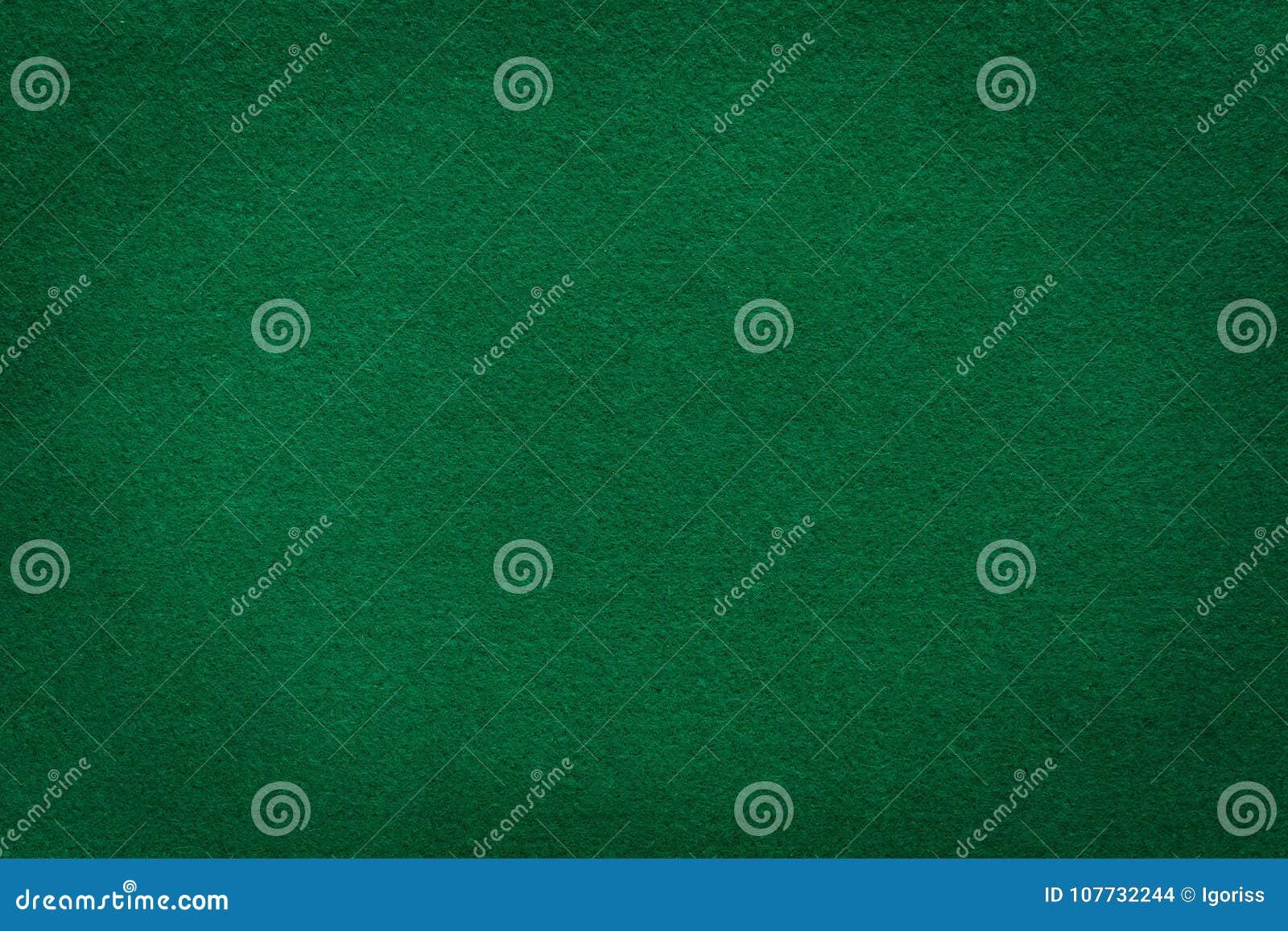 Textura del fieltro del verde para el fondo del casino