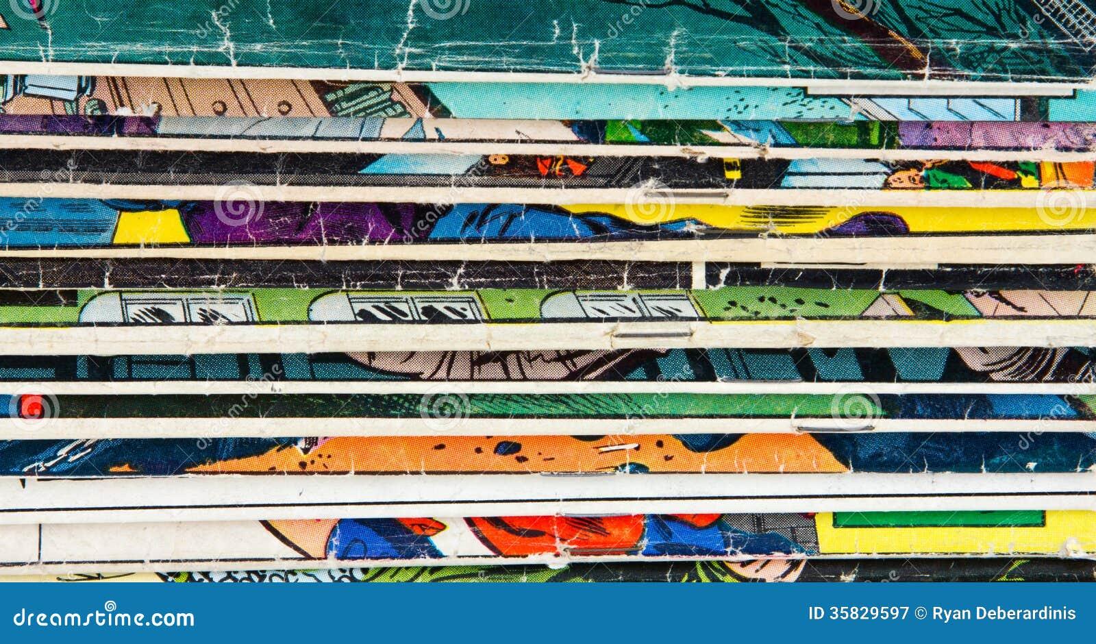 Textura del fondo del cómic del vintage