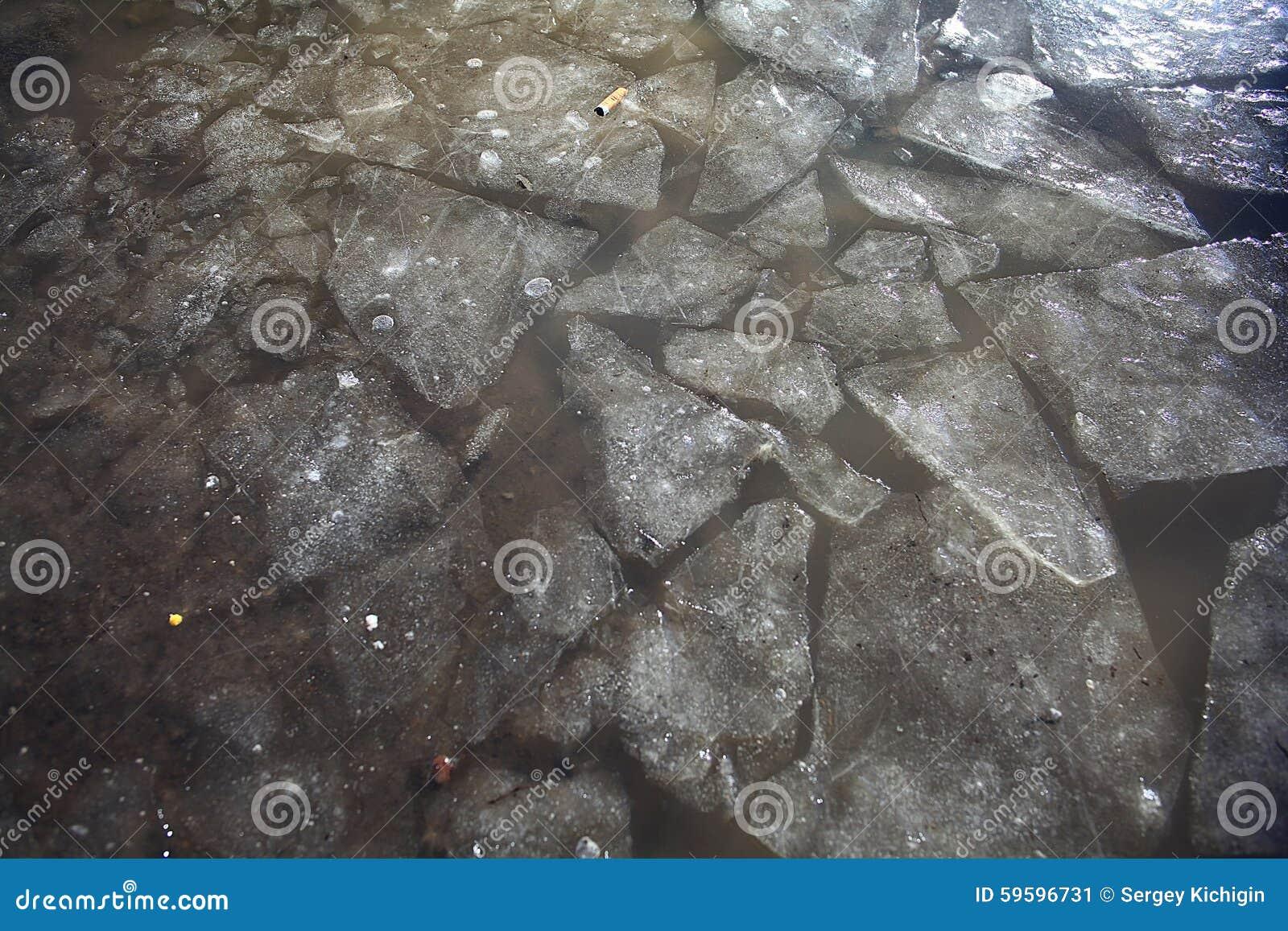 Textura del hielo oscuro