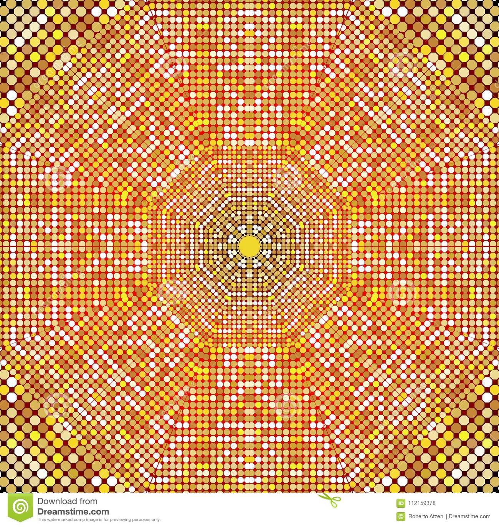Textura del modelo del oro con los mosaicos de oro en el estilo bizantino/el mosaico de la antigüedad/las tejas de mosaico en est