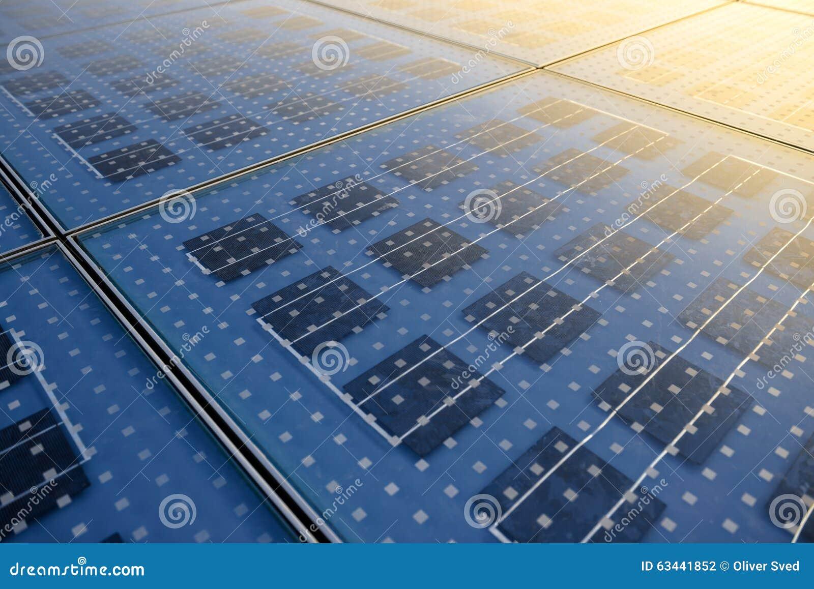 Textura del panel solar