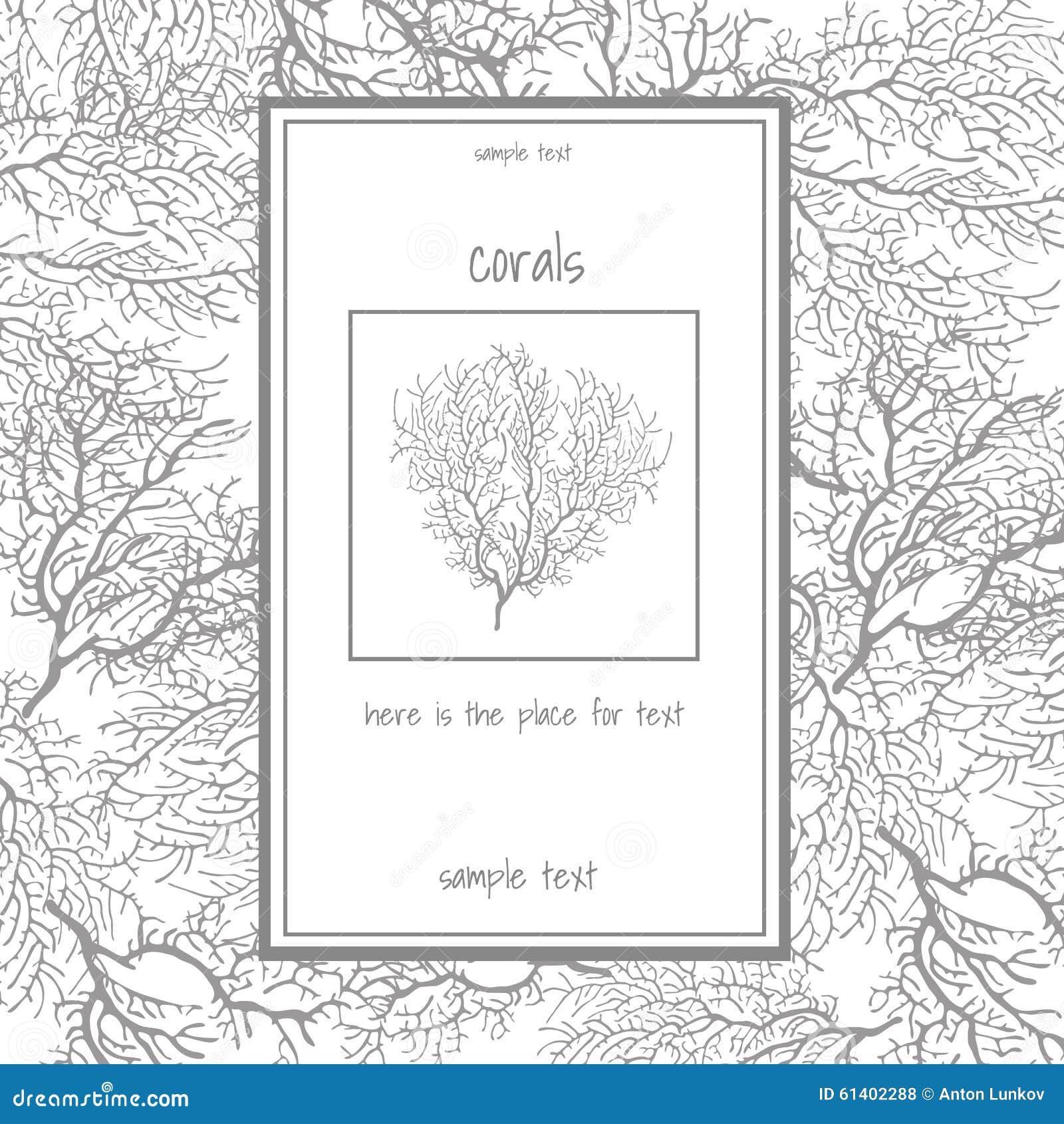 Textura do coral cinzento com texto
