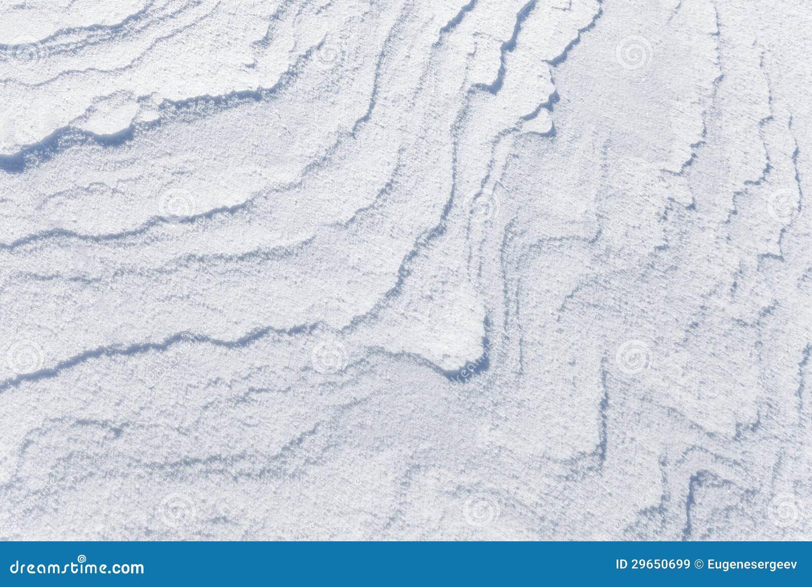 Textura do fundo do snowdrift