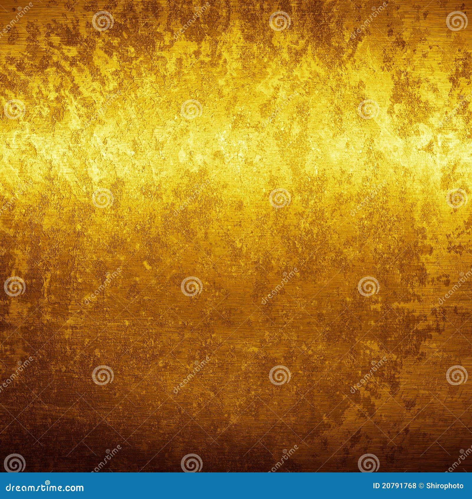 Textura do grunge do ouro