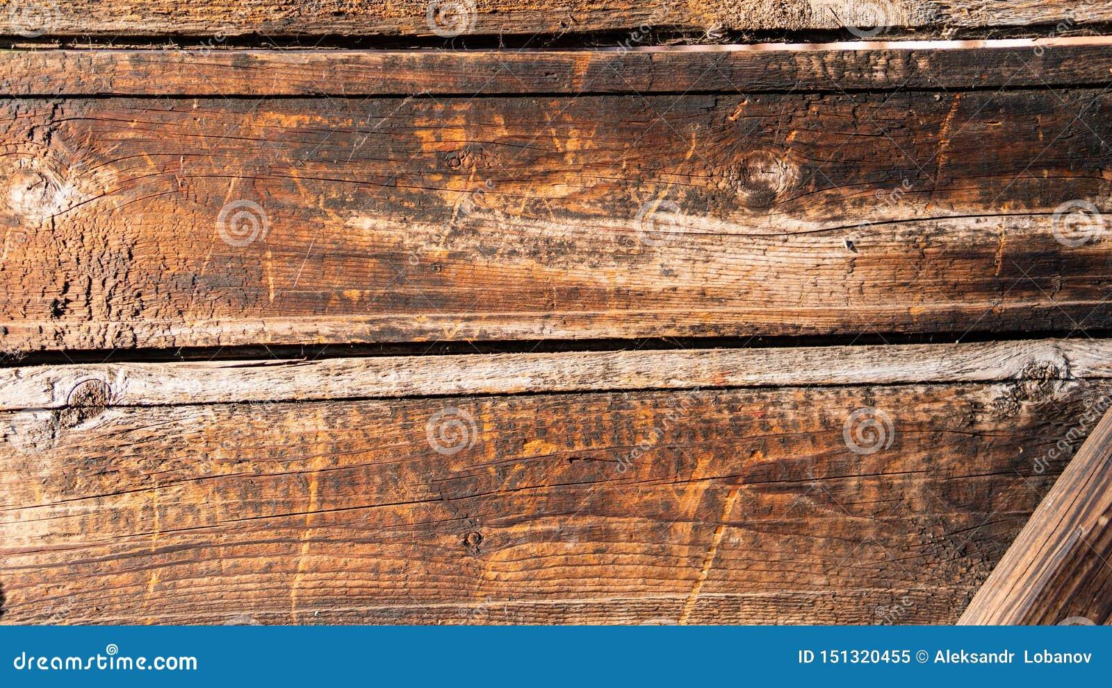 Textura do marrom de madeira feito a mão da cerca