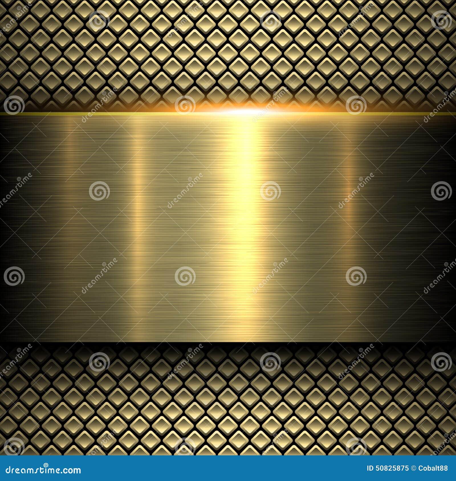 Textura do metal do ouro do fundo