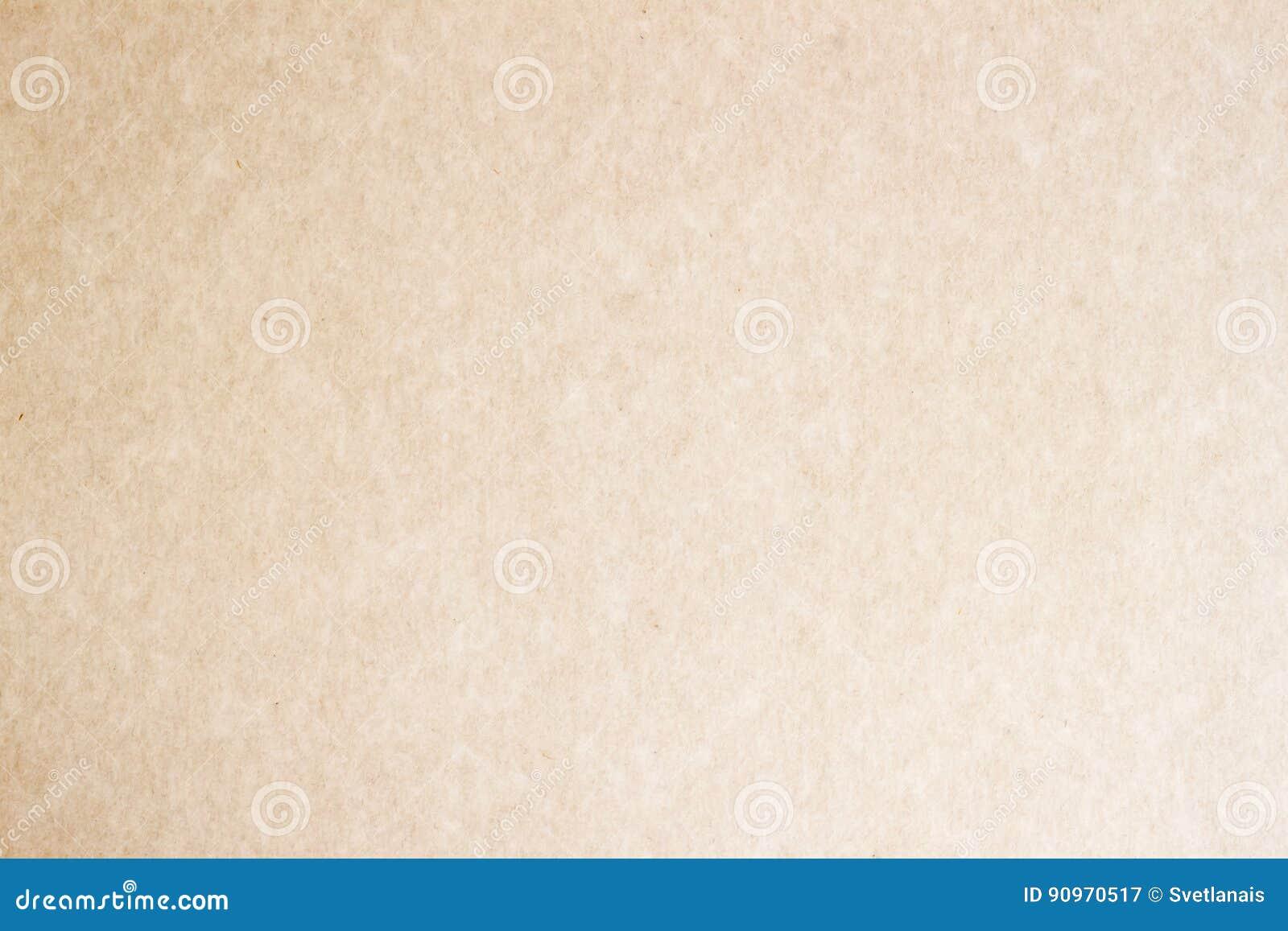 Textura do ofício de papel Superfície do Grunge, close-up orgânico da textura do cartão, com vários villi, fluff e outras inclusõ