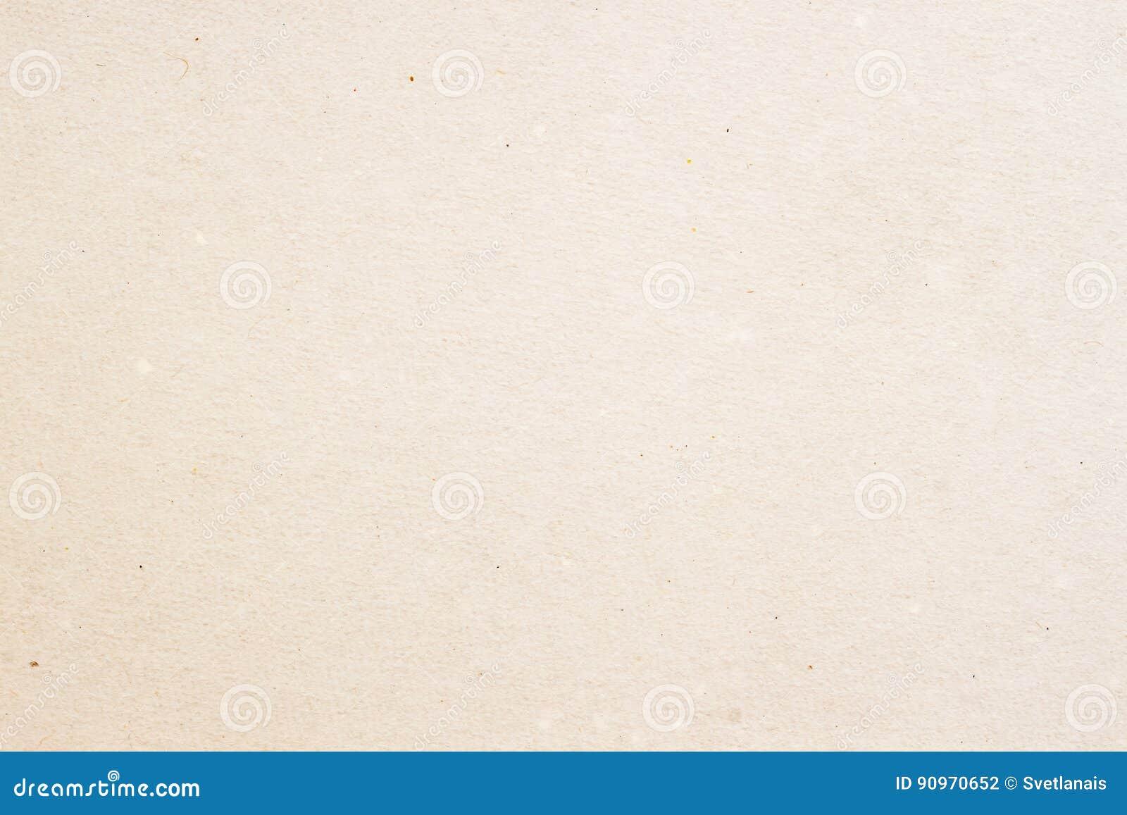 Textura do papel orgânico velho do creme claro, fundo para o projeto com texto do espaço da cópia ou imagem Material reciclável