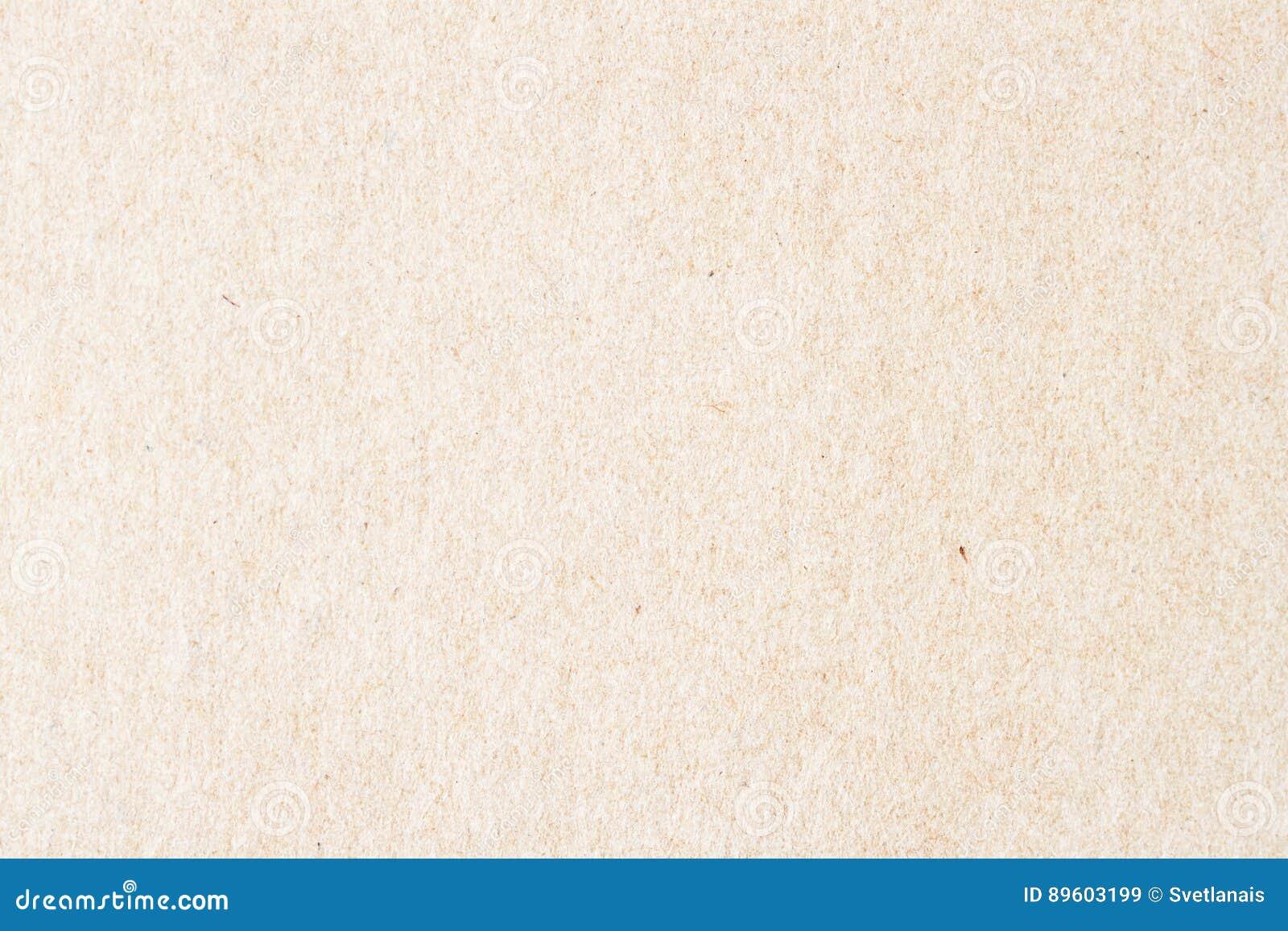 Textura do papel orgânico velho do creme claro Material reciclável com inclusões pequenas da celulose fundo, contexto