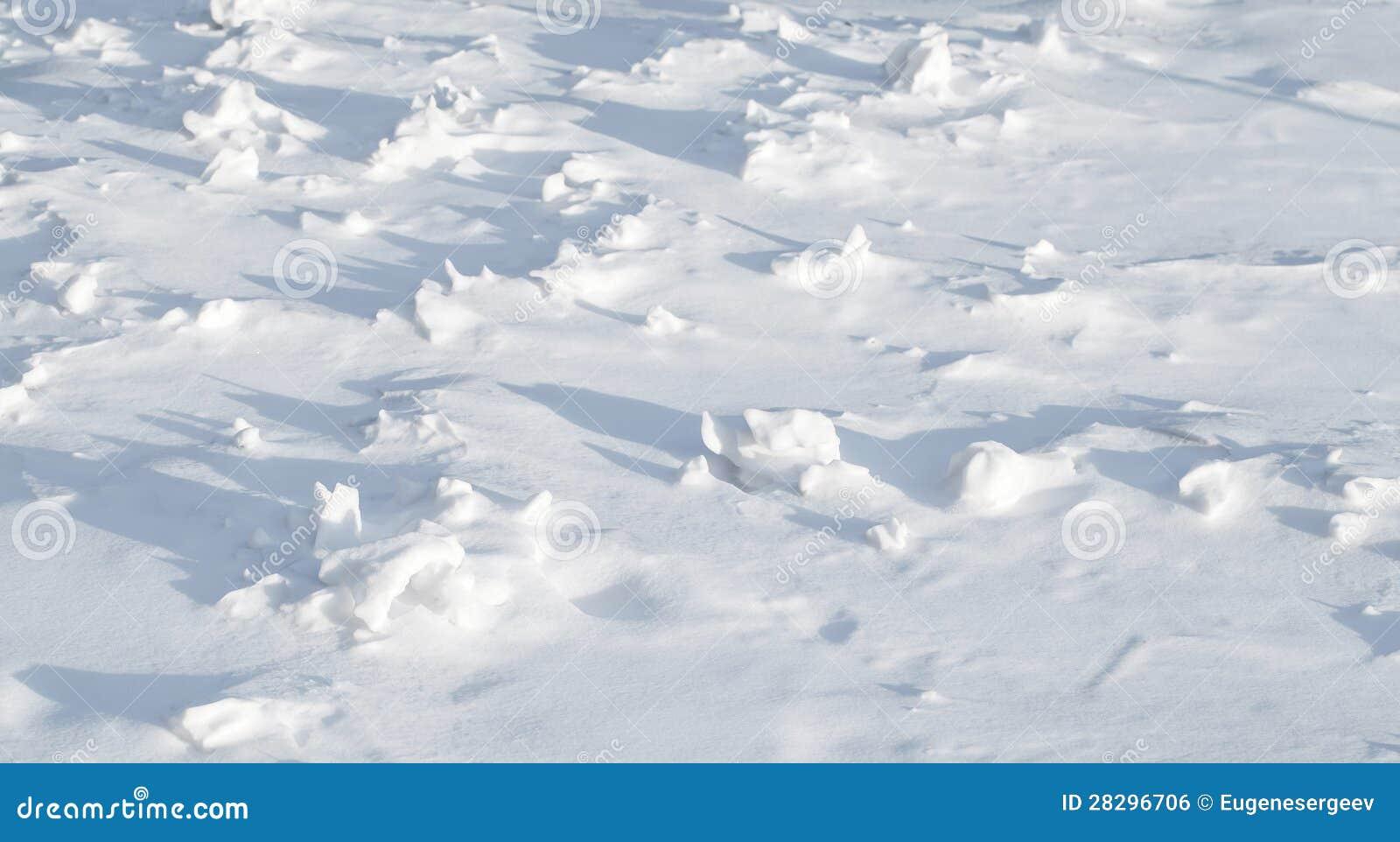 Textura do snowdrift montanhoso afiado