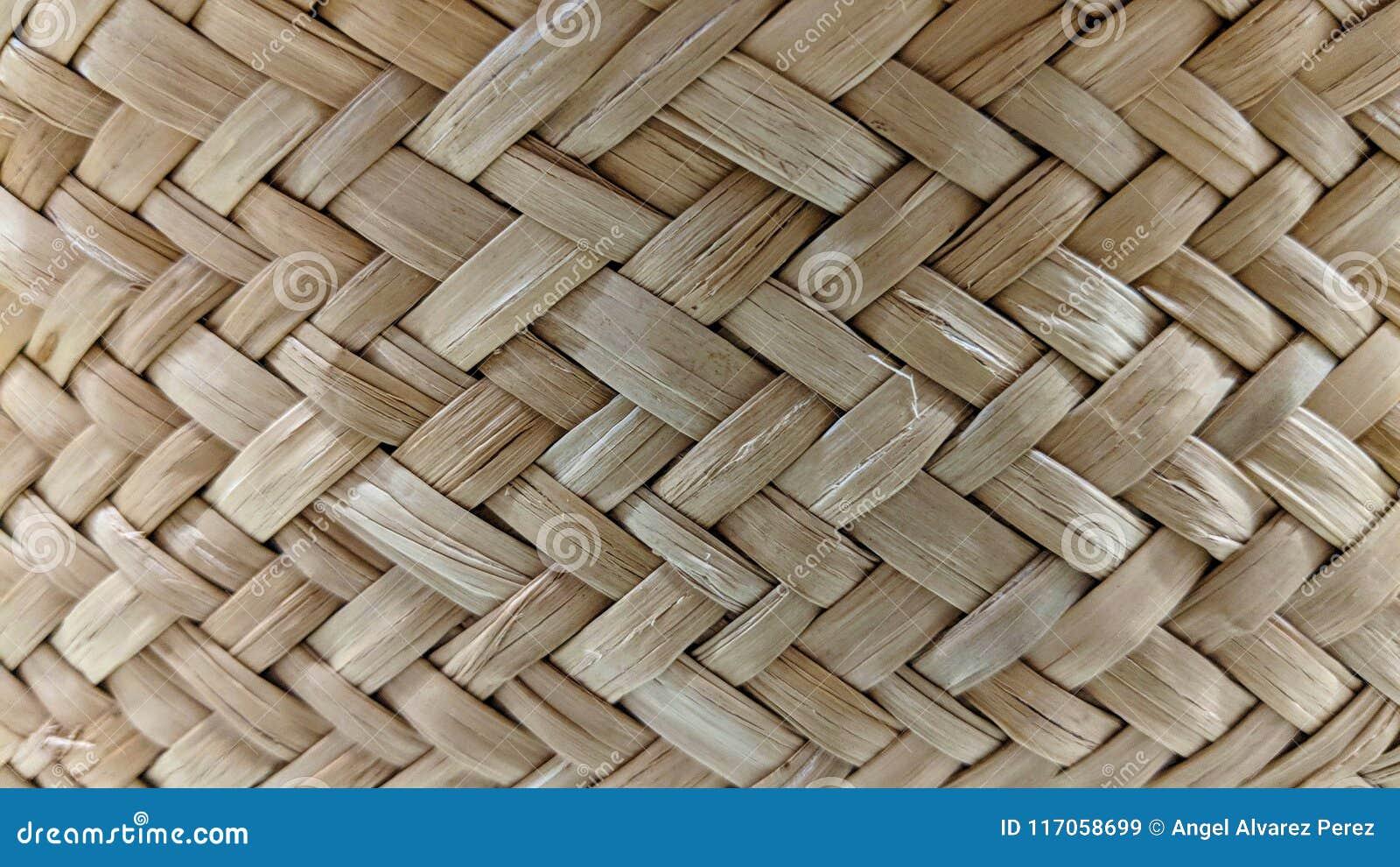 Textura do weave de cesta de vime