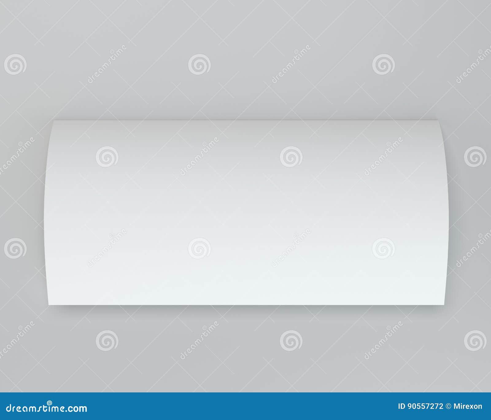 Textura doblada de la hoja de la página del Libro Blanco representación 3d