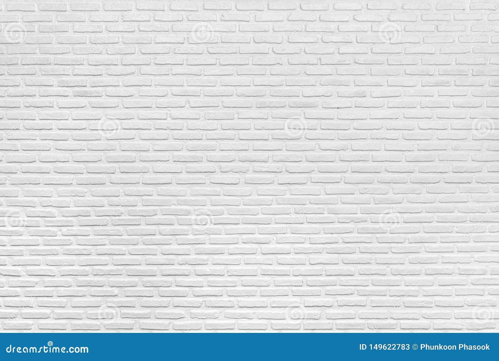 Textura e fundo brancos modernos da parede de tijolo