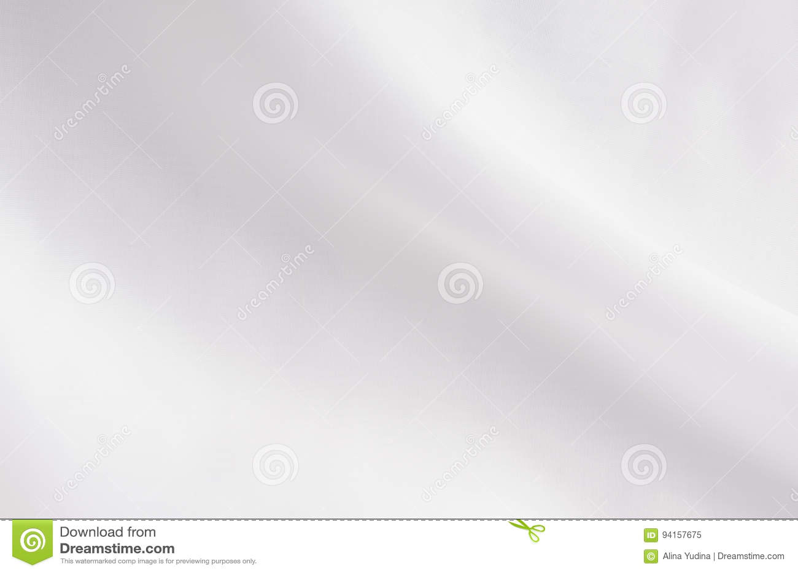 Textura elegante lisa blanca de la seda o de la tela de satén con la onda líquida