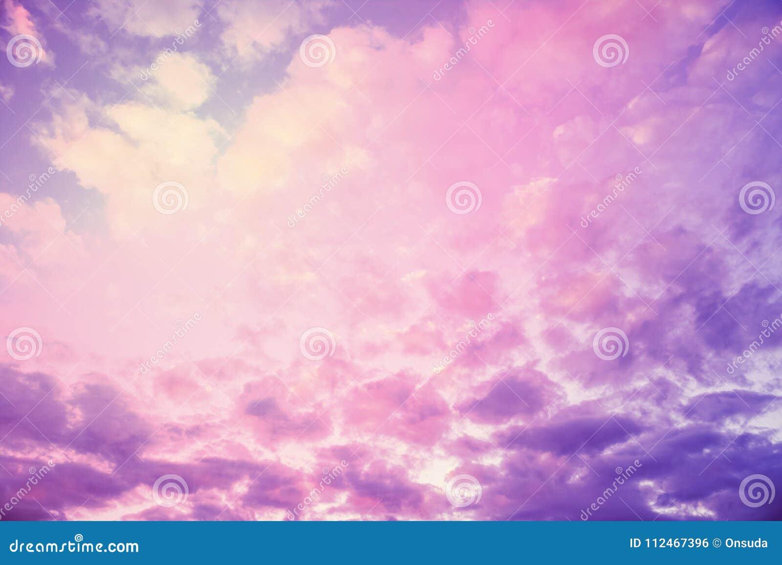 Texturas De Colores Pastel: Textura En Colores Pastel Del Cielo Foto De Archivo