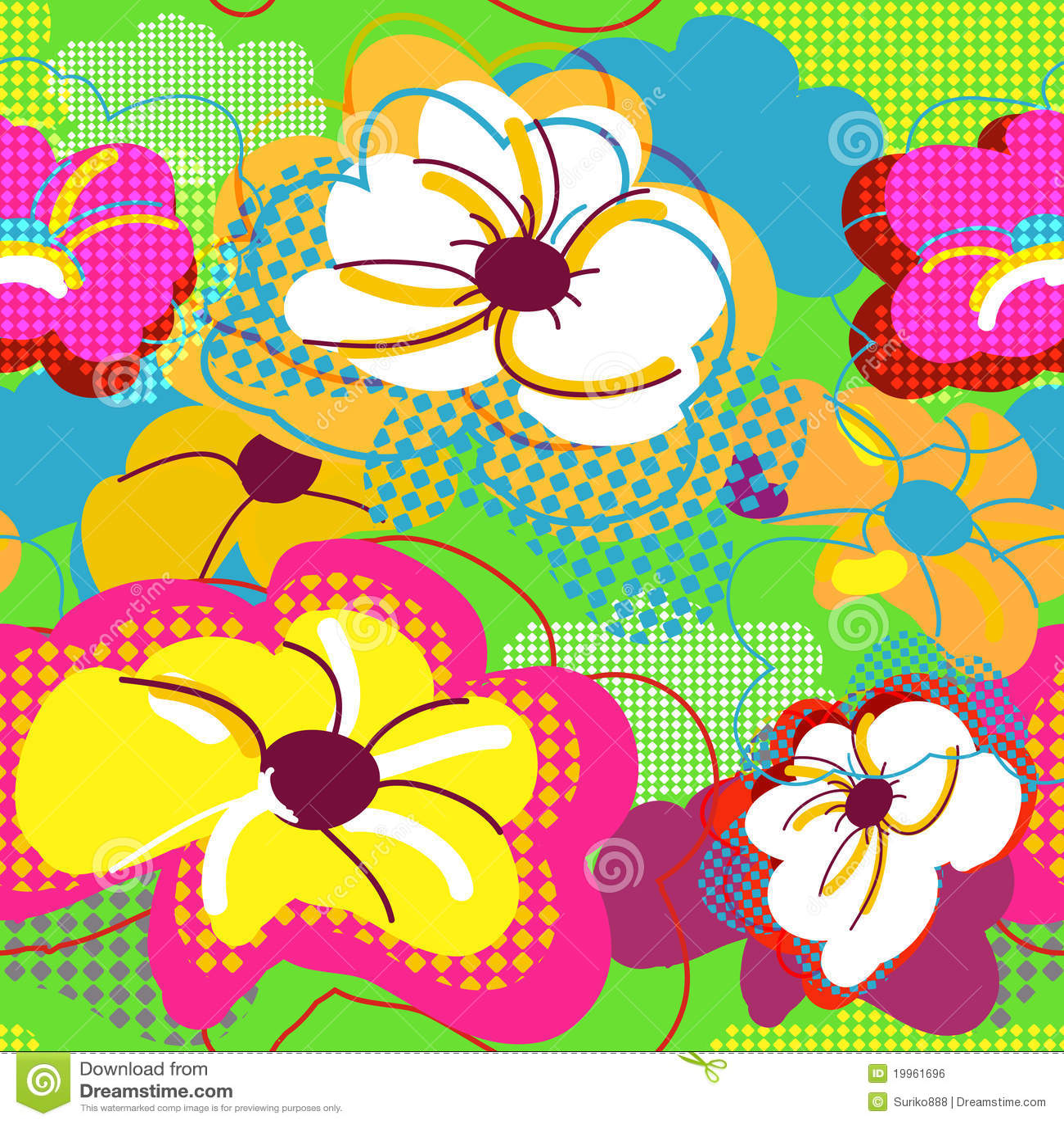 Textura floral sem emenda abstrata