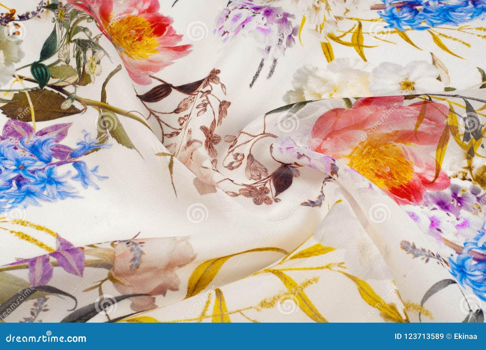 Textura, fondo, modelo Tela de seda Textura con rosa y