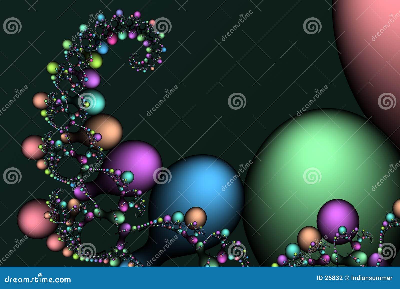 Textura II das Fractal-bolhas